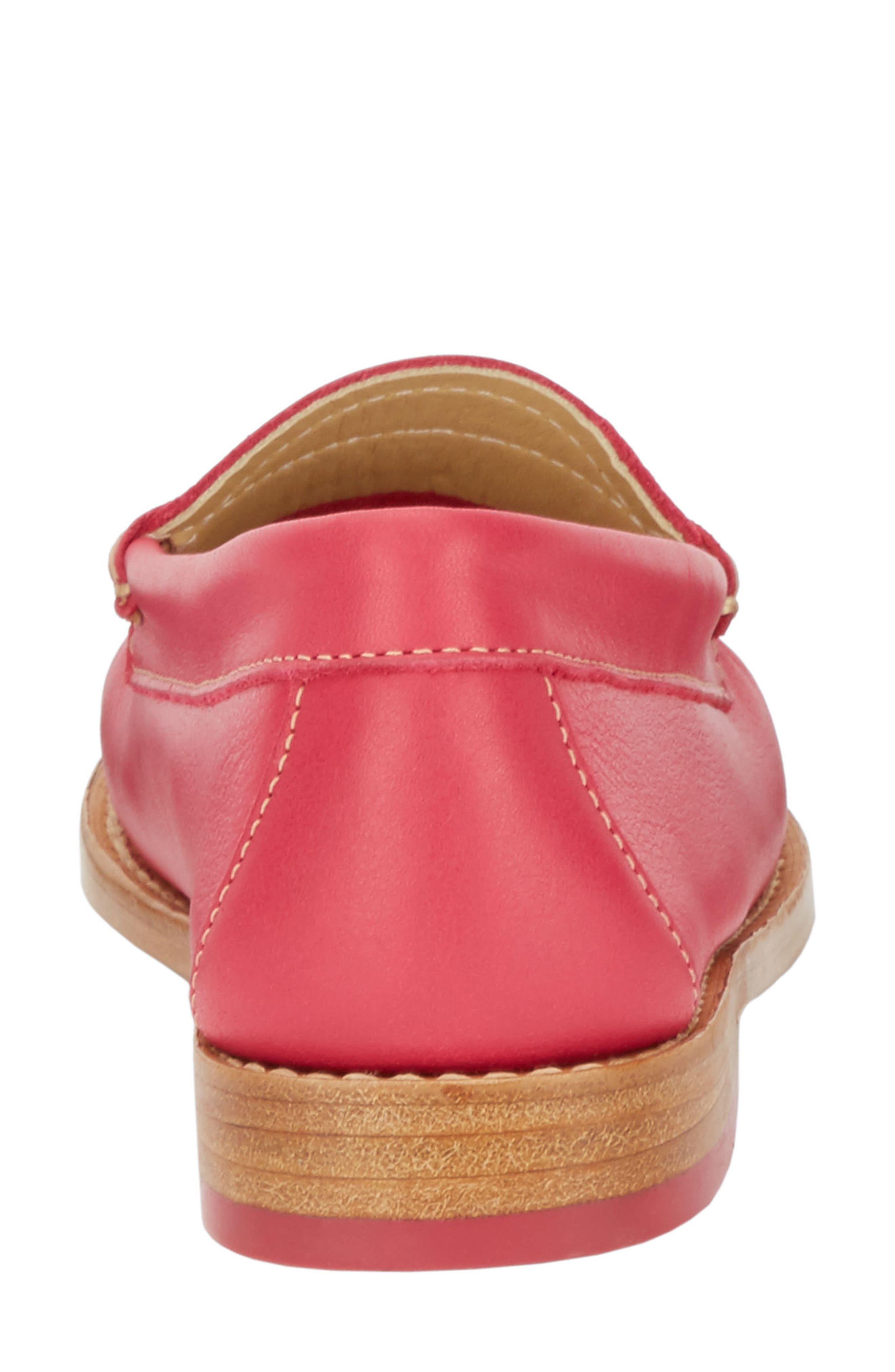 'Whitney' Loafer,                             Alternate thumbnail 7, color,                             BERRY PINK LEATHER