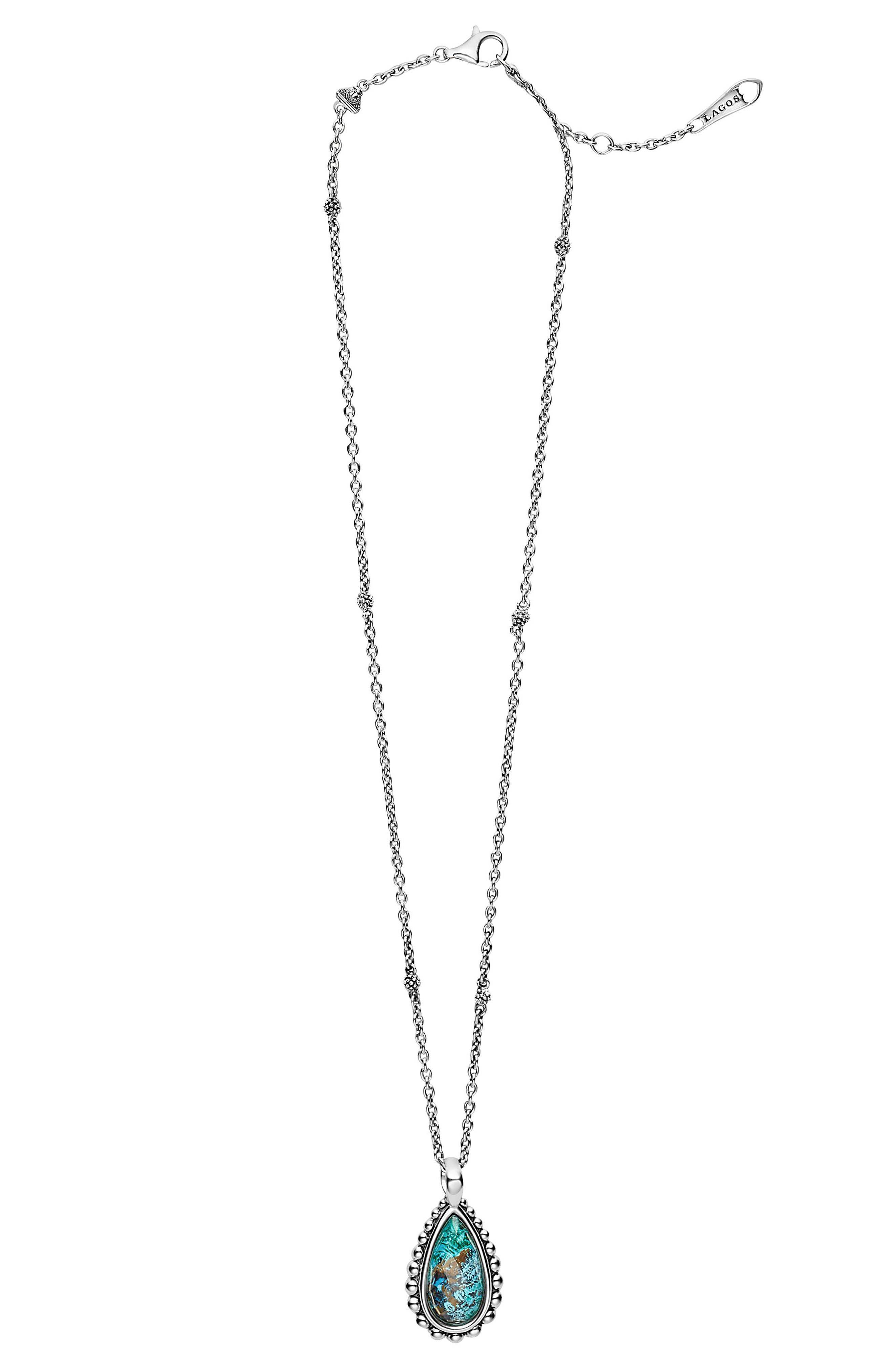 'Maya' Teardrop Pendant Necklace,                             Alternate thumbnail 2, color,                             CHRYSOCOLLA