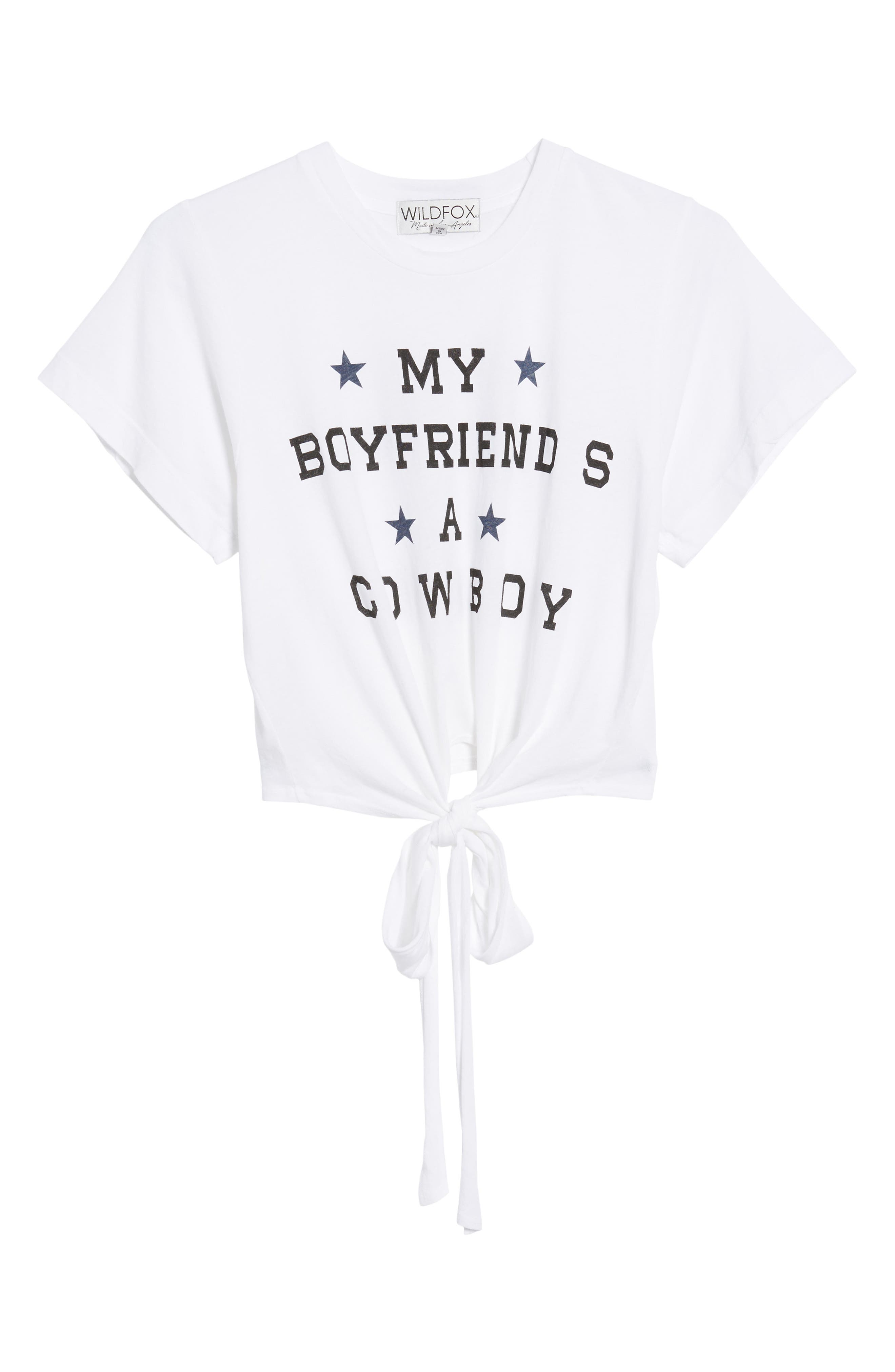 WILDFOX,                             My Boyfriend Is a Cowboy Tee,                             Alternate thumbnail 6, color,                             100