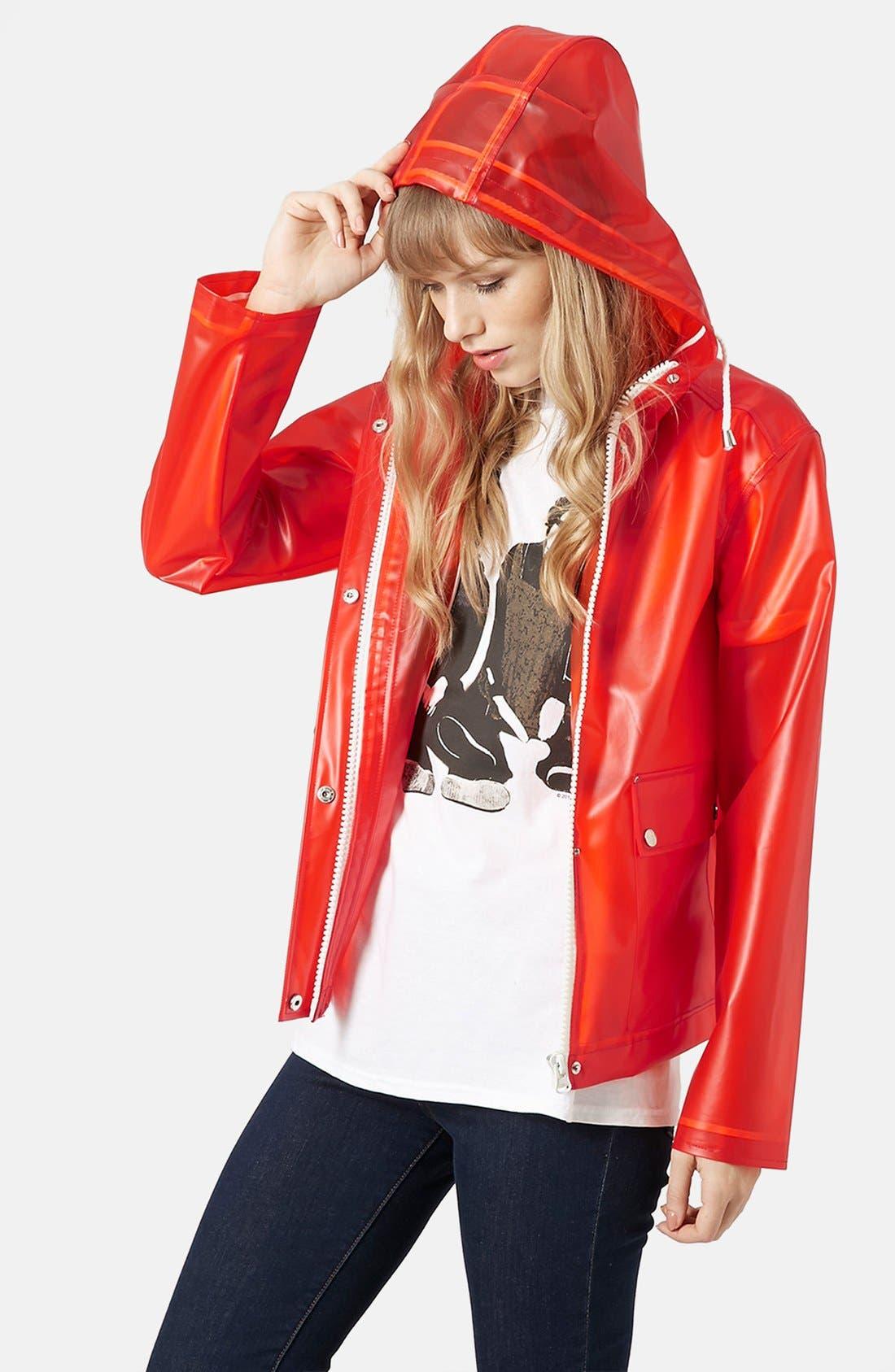 'Bongo' Hooded Plastic Raincoat,                         Main,                         color, 600