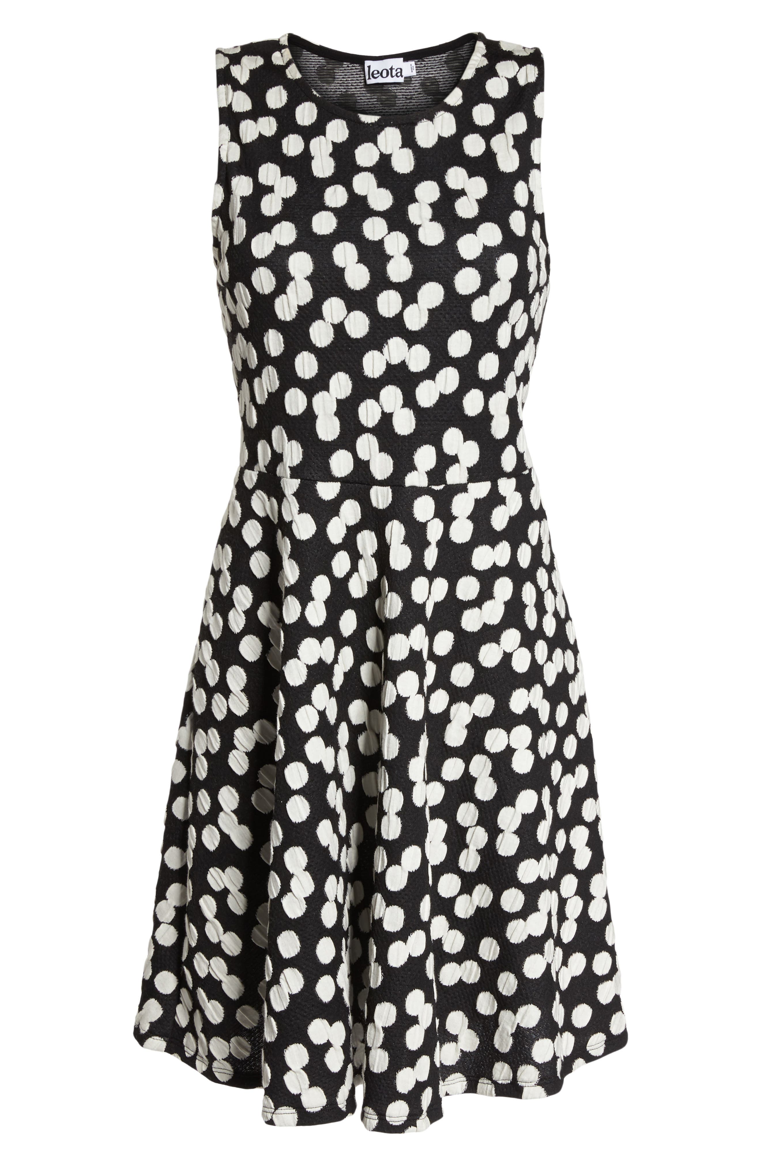 Ava Fit & Flare Dress,                             Alternate thumbnail 7, color,                             001