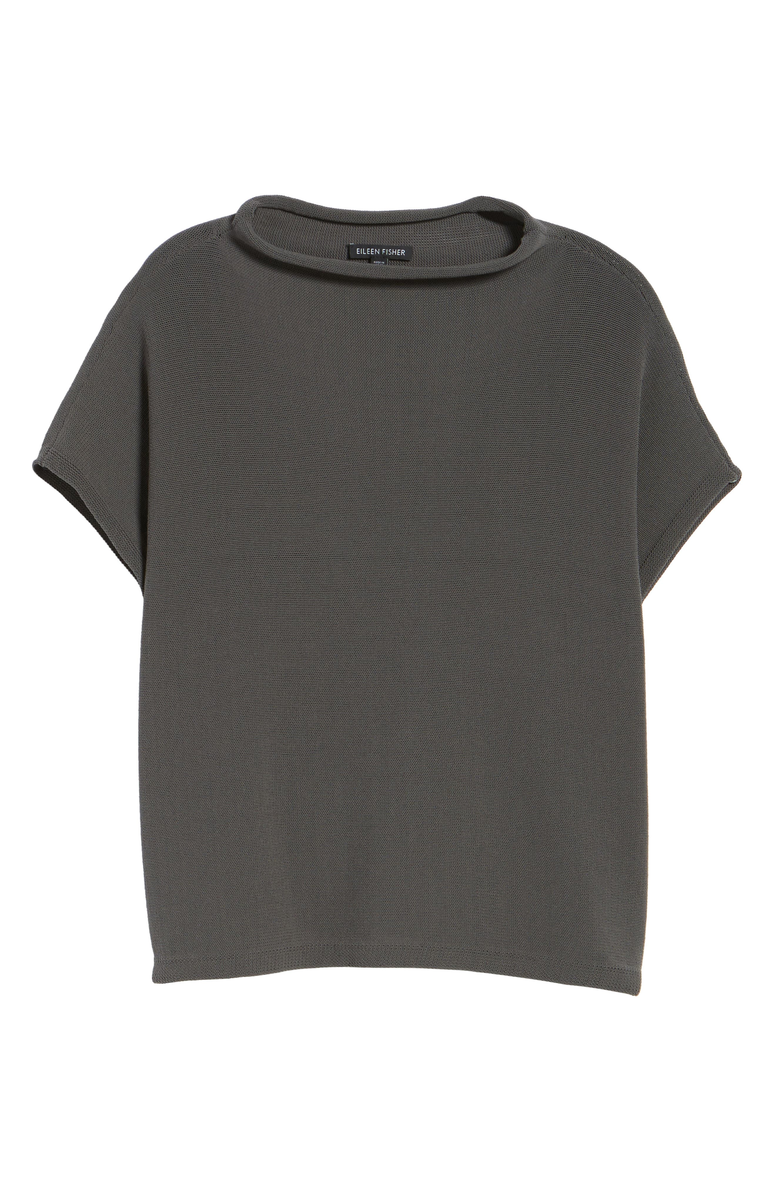Organic Cotton Blend Funnel Neck Sweater,                             Alternate thumbnail 12, color,