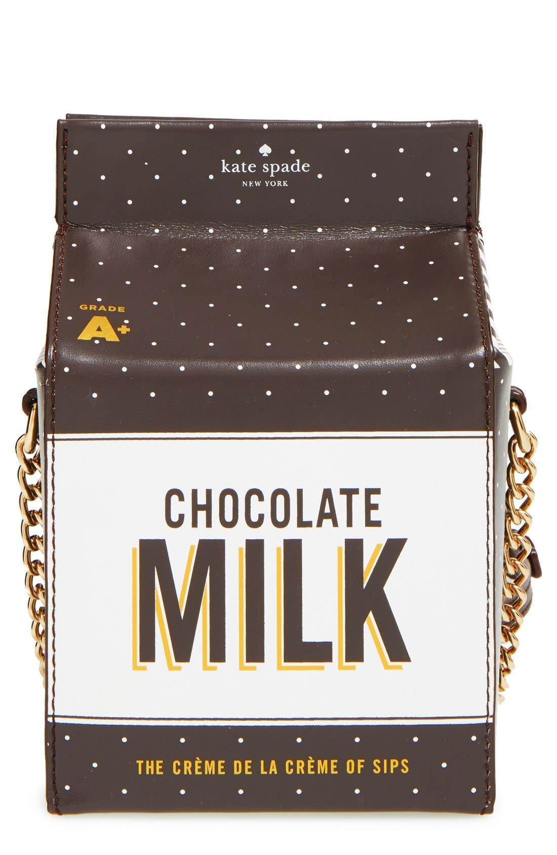 KATE SPADE NEW YORK 'de la crème' milk container crossbody bag, Main, color, 974