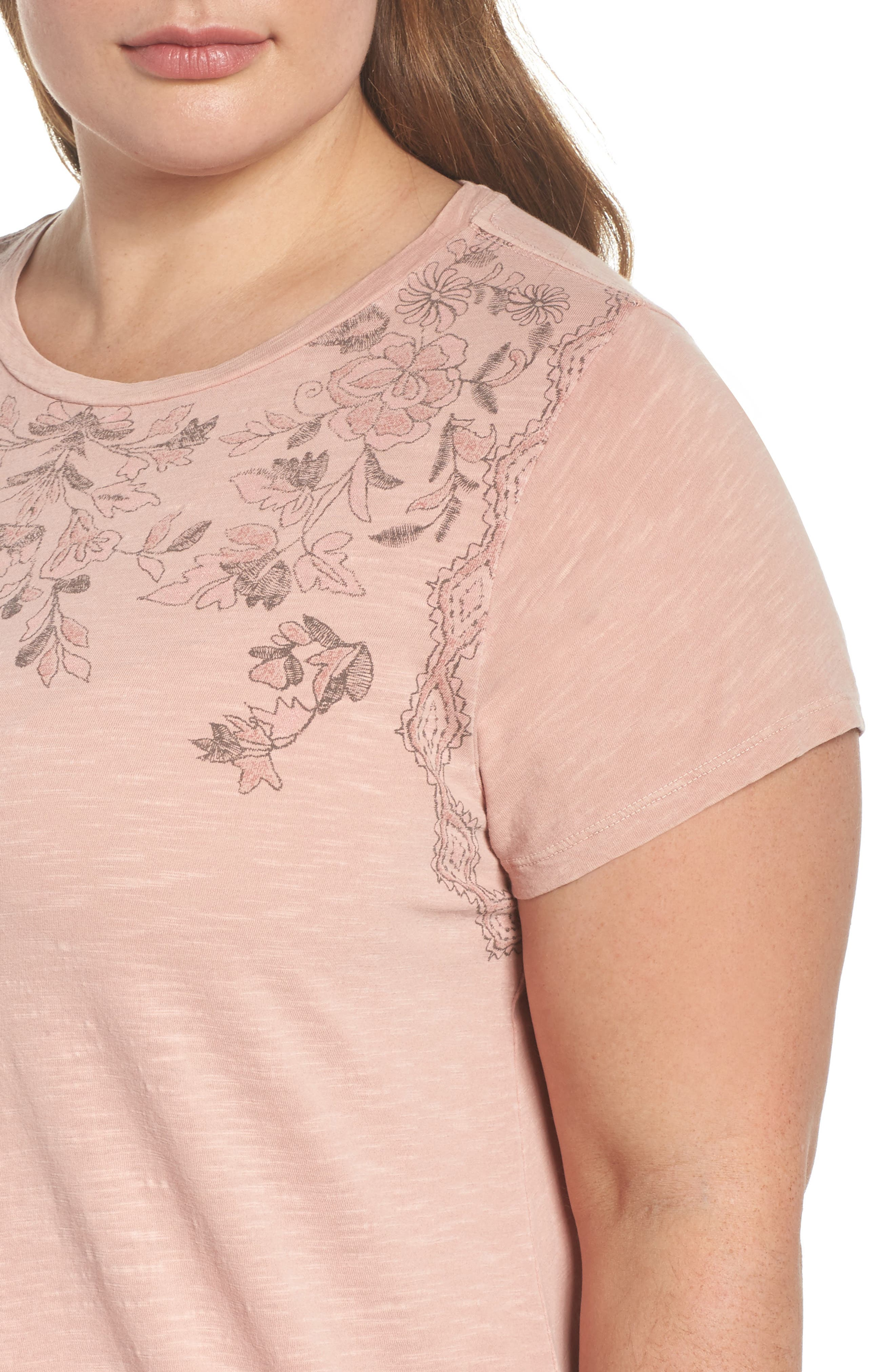 Floral Graphic Tee,                             Alternate thumbnail 4, color,                             650