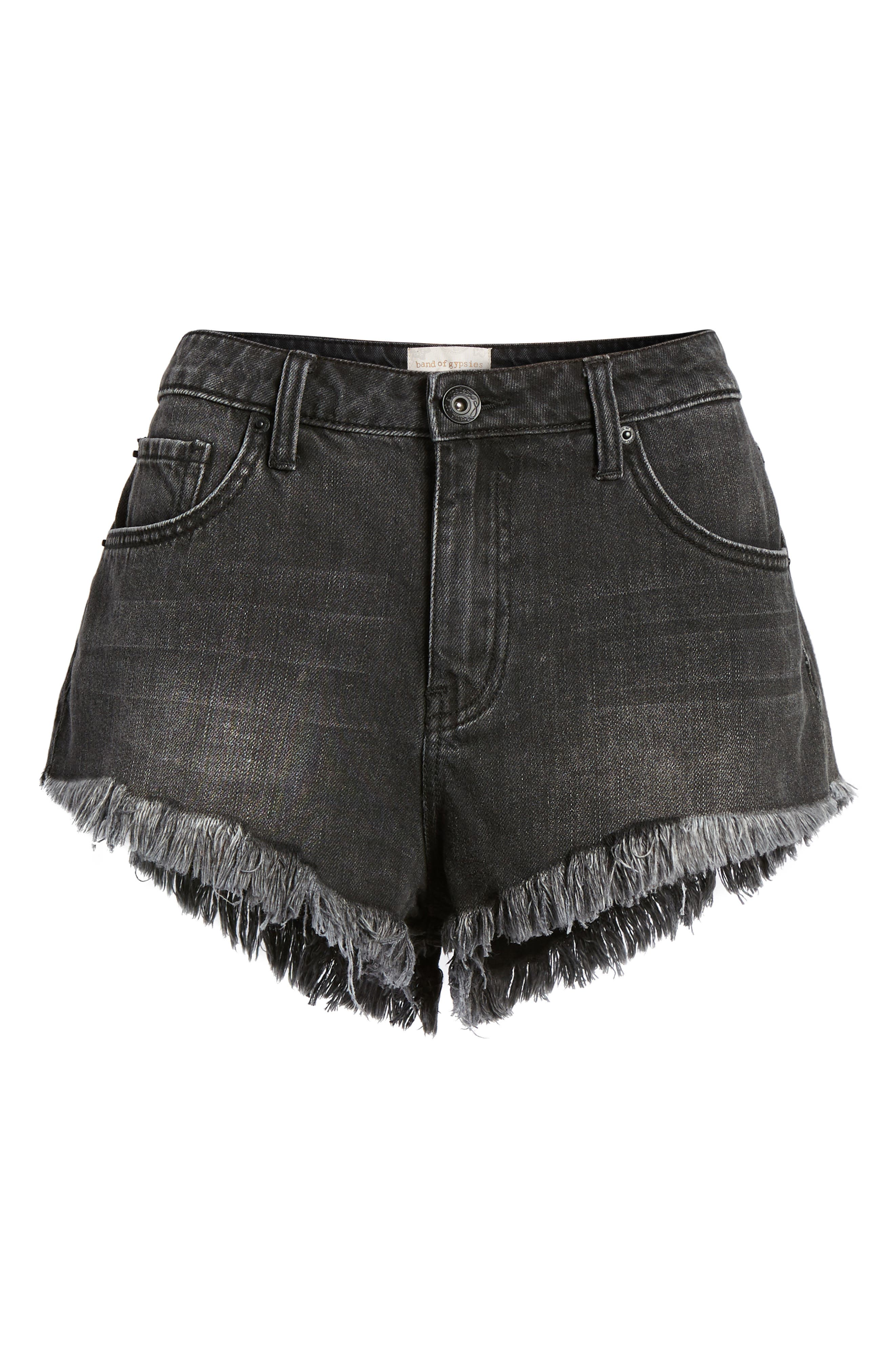 Riley Denim Shorts,                             Alternate thumbnail 7, color,