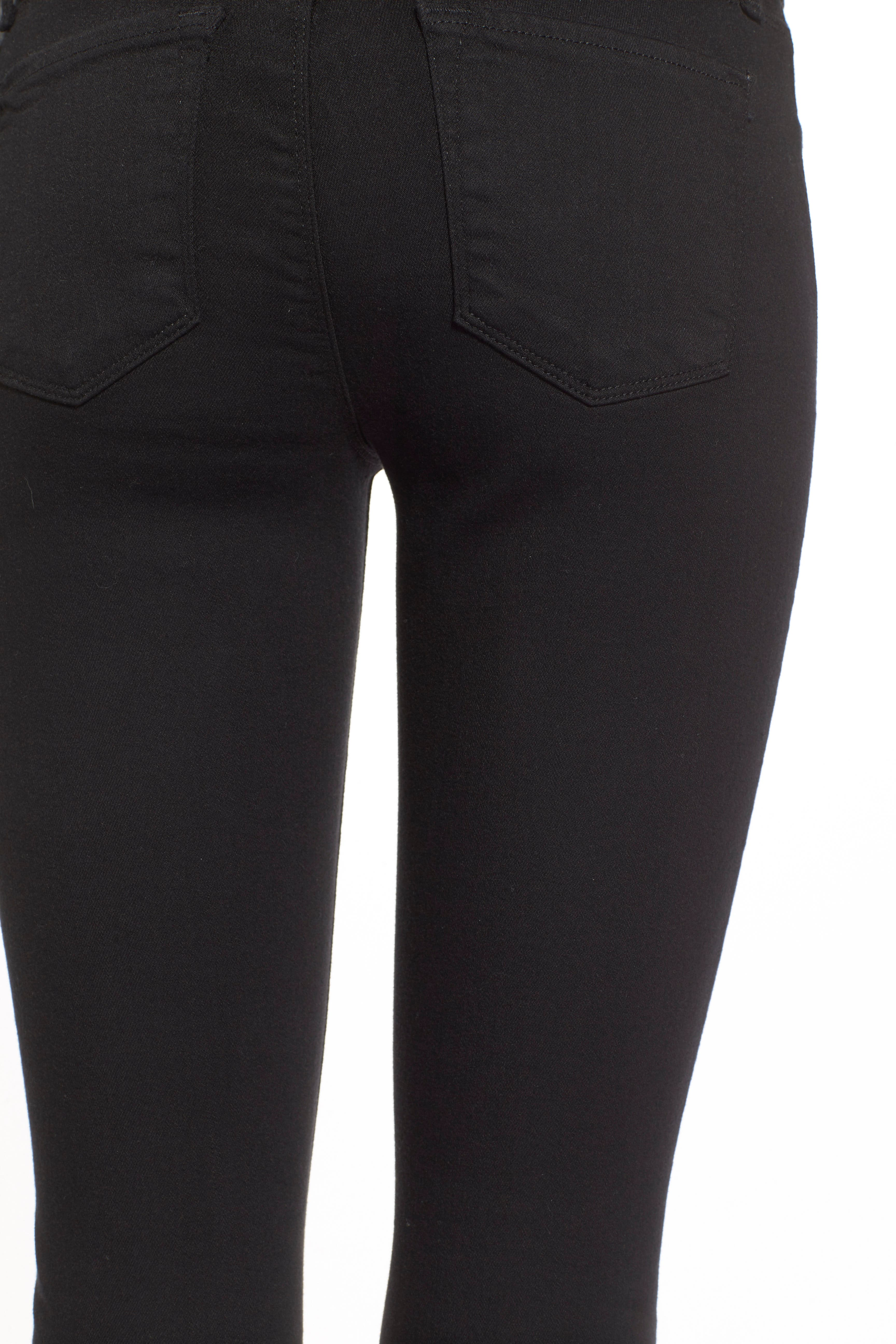 J BRAND,                             Super Skinny Jeans,                             Alternate thumbnail 4, color,                             SERIOUSLY BLACK