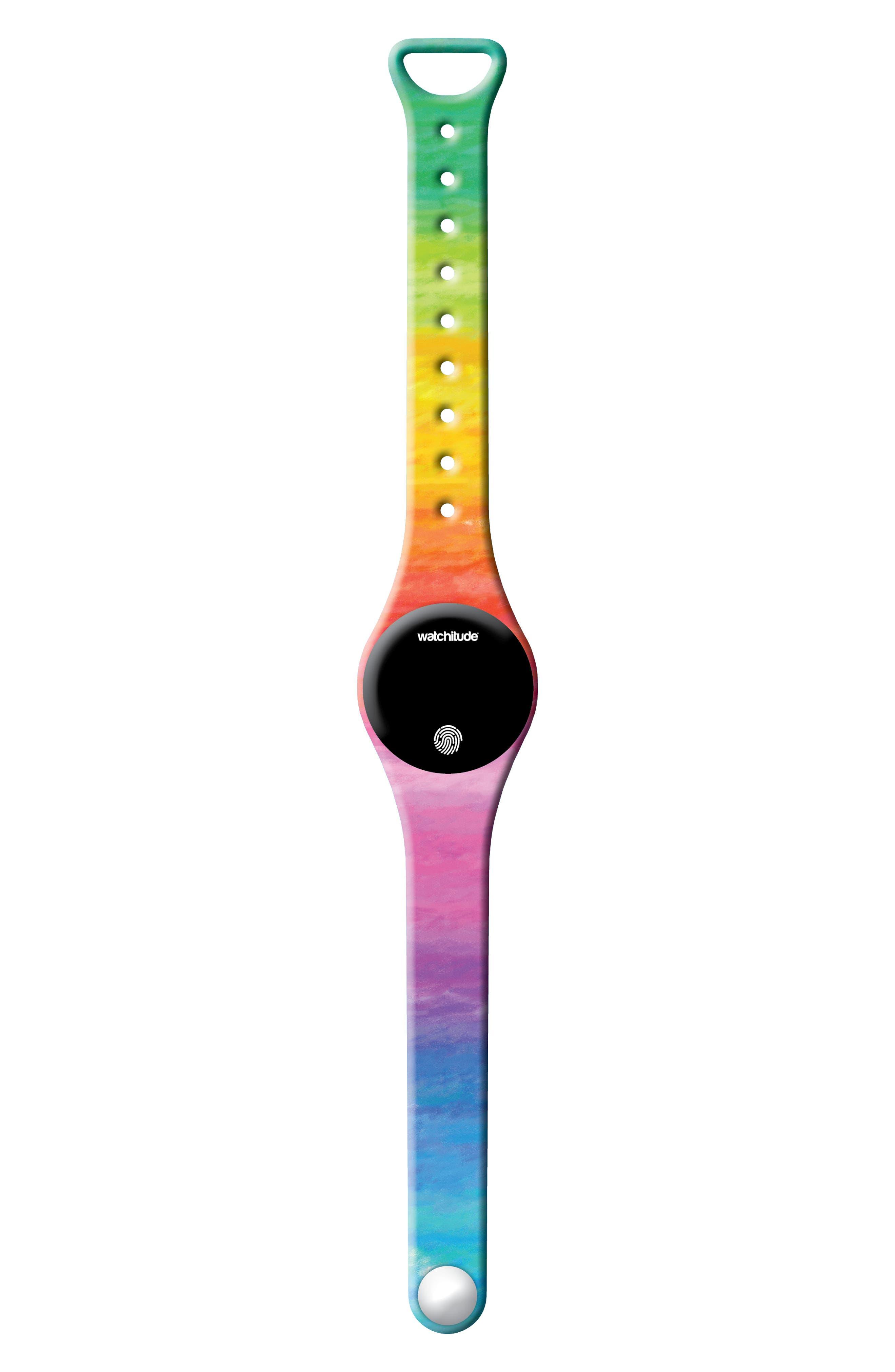 Rainbow Watercolors Move Activity Tracker Watch,                         Main,                         color, WATERCOLORS