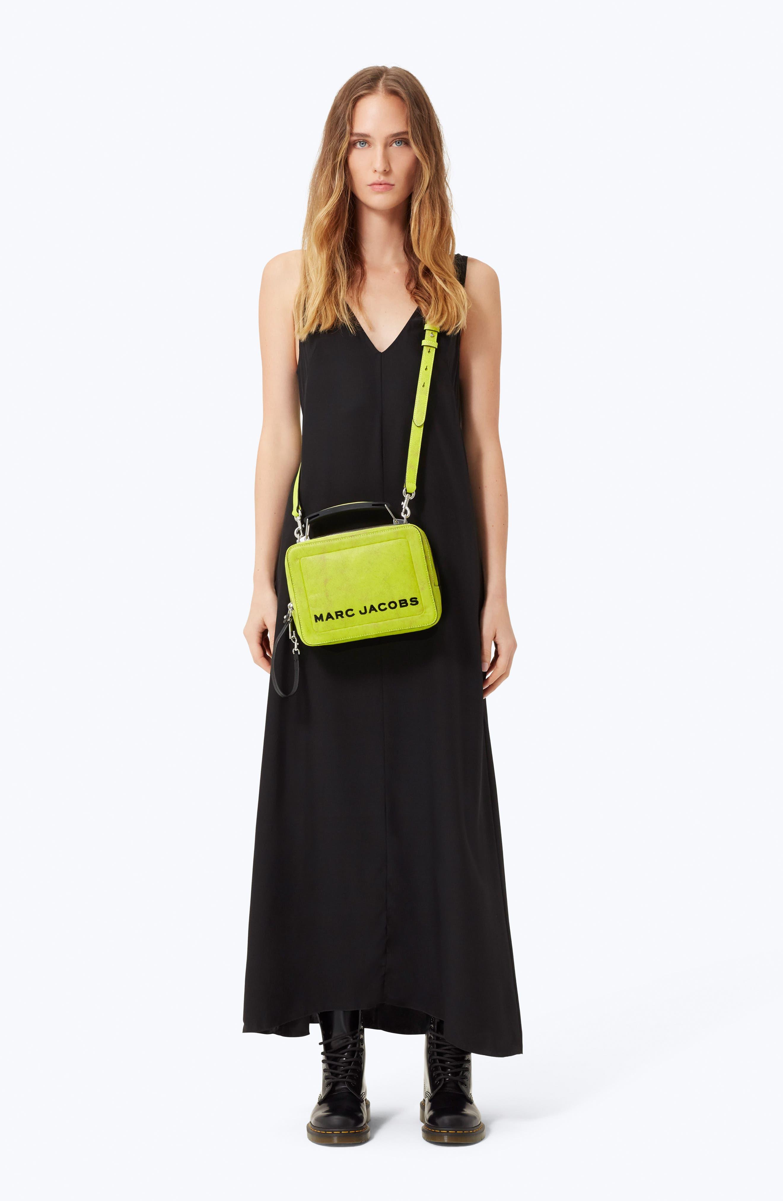 The Box Leather Handbag,                             Alternate thumbnail 2, color,                             YELLOW