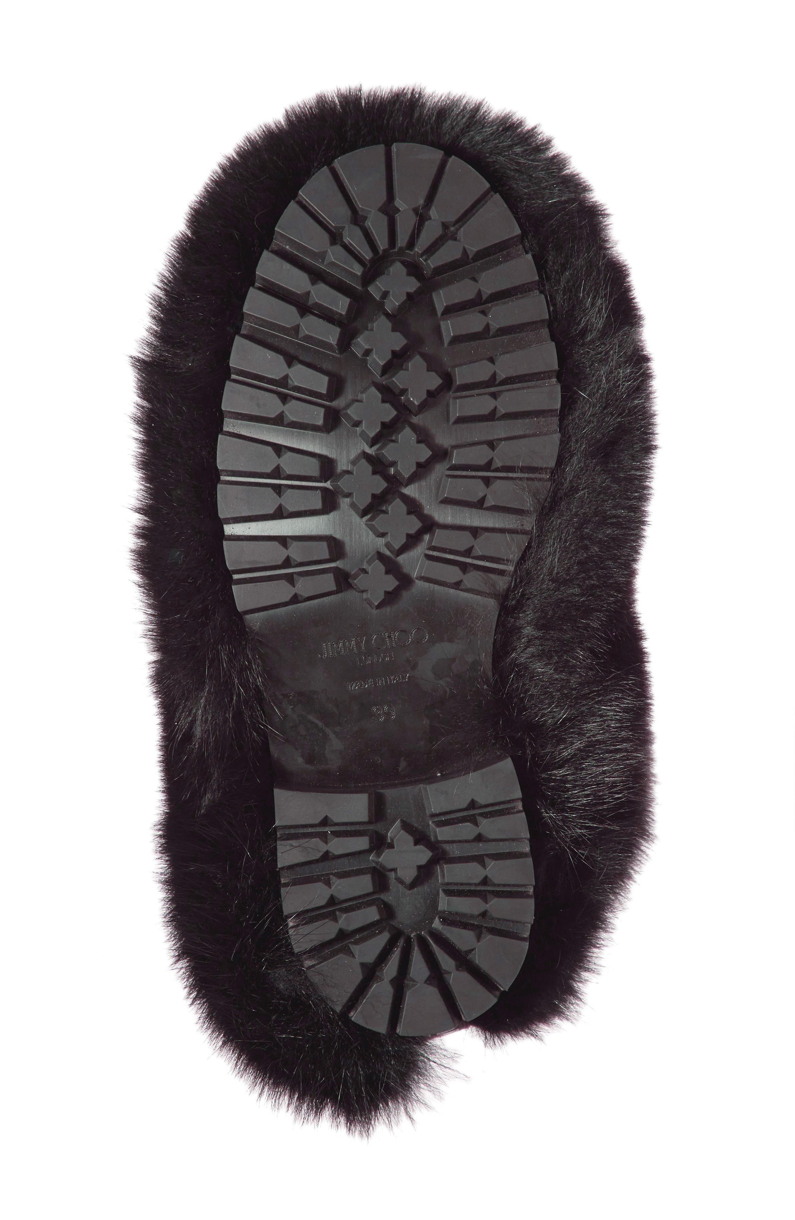 Dalton Genuine Fox & Rabbit Fur Bootie,                             Alternate thumbnail 6, color,                             001