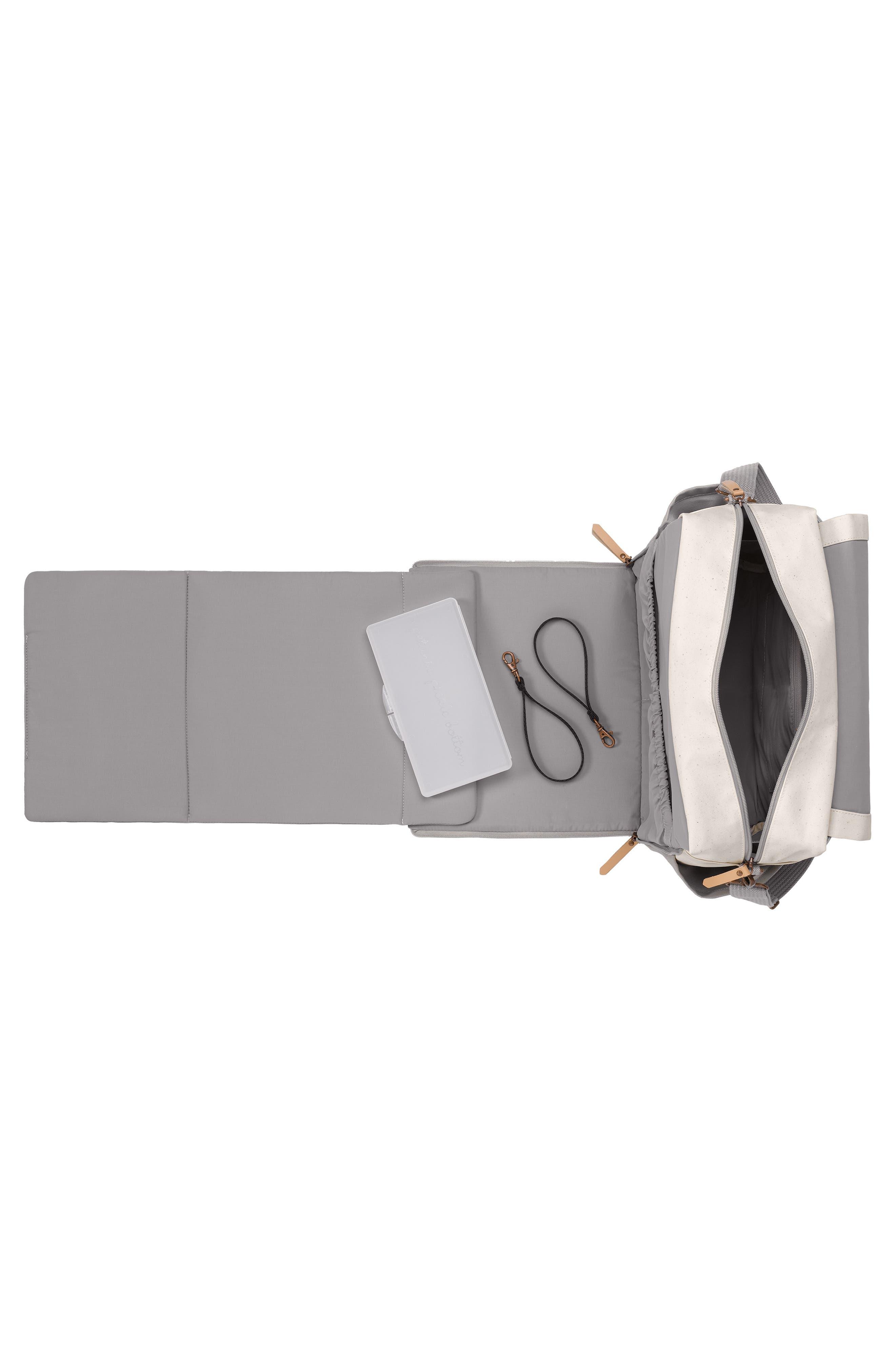 Boxy Backpack Diaper Bag,                             Alternate thumbnail 3, color,                             BIRCH/ STONE