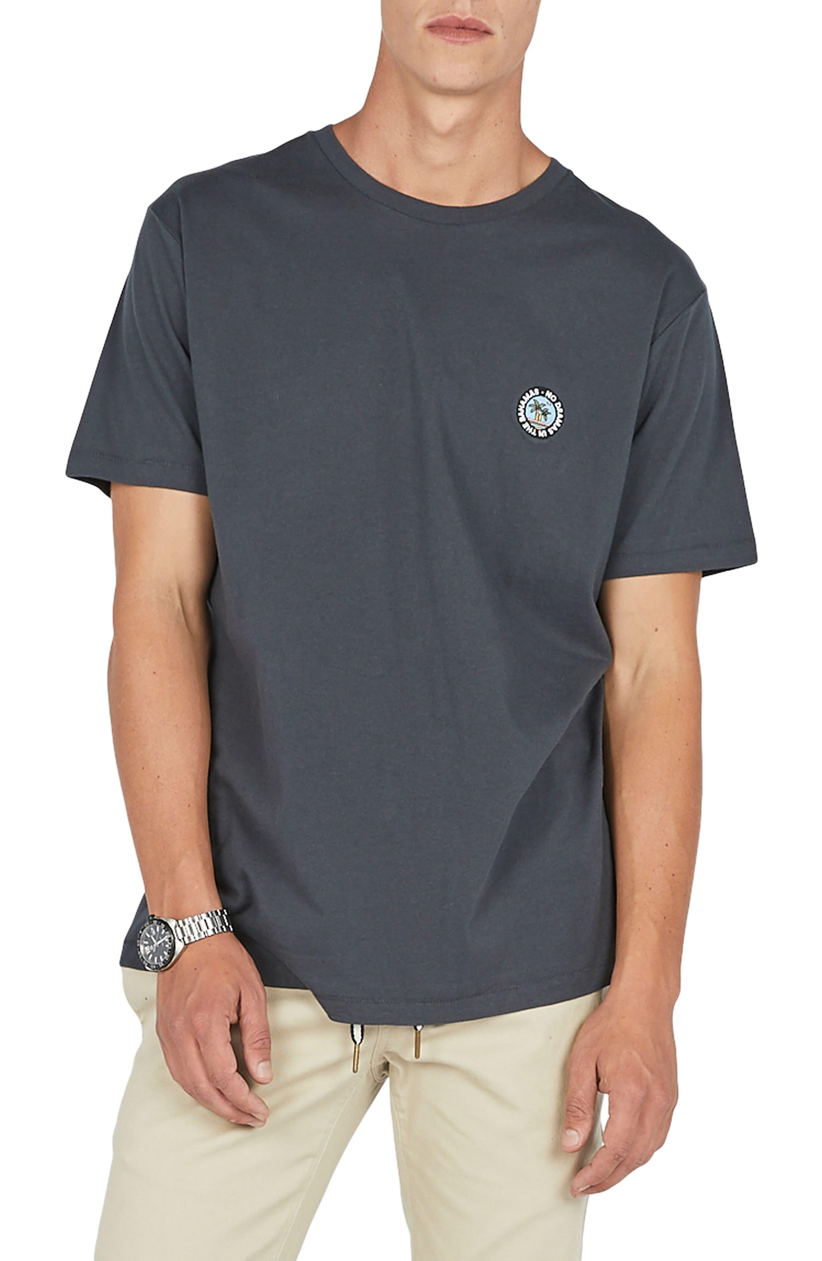 No Drama Badge T-Shirt,                             Main thumbnail 1, color,                             001
