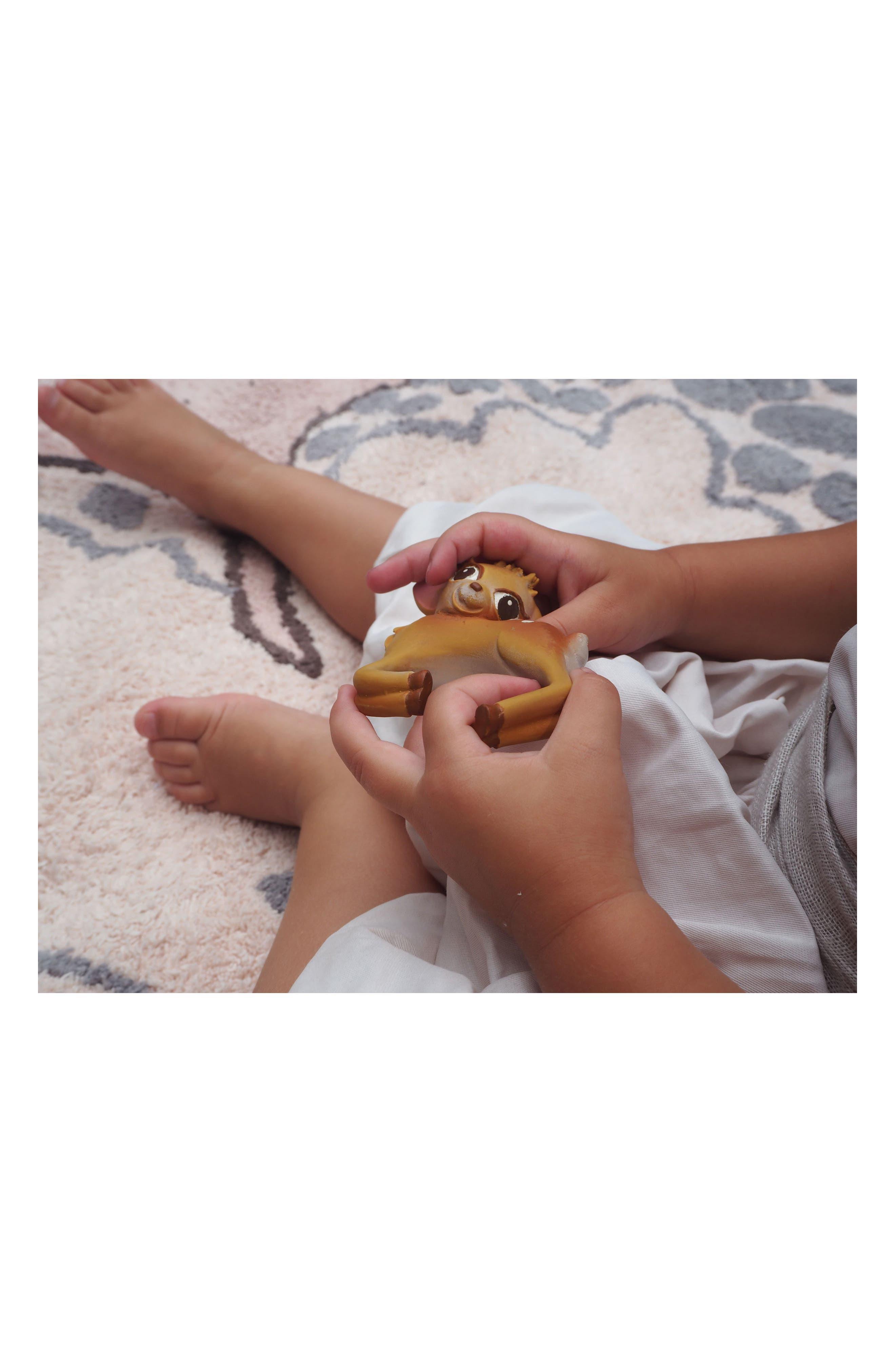 Olive the Deer Teething Bracelet,                             Alternate thumbnail 6, color,                             BROWN DEER BRACELET