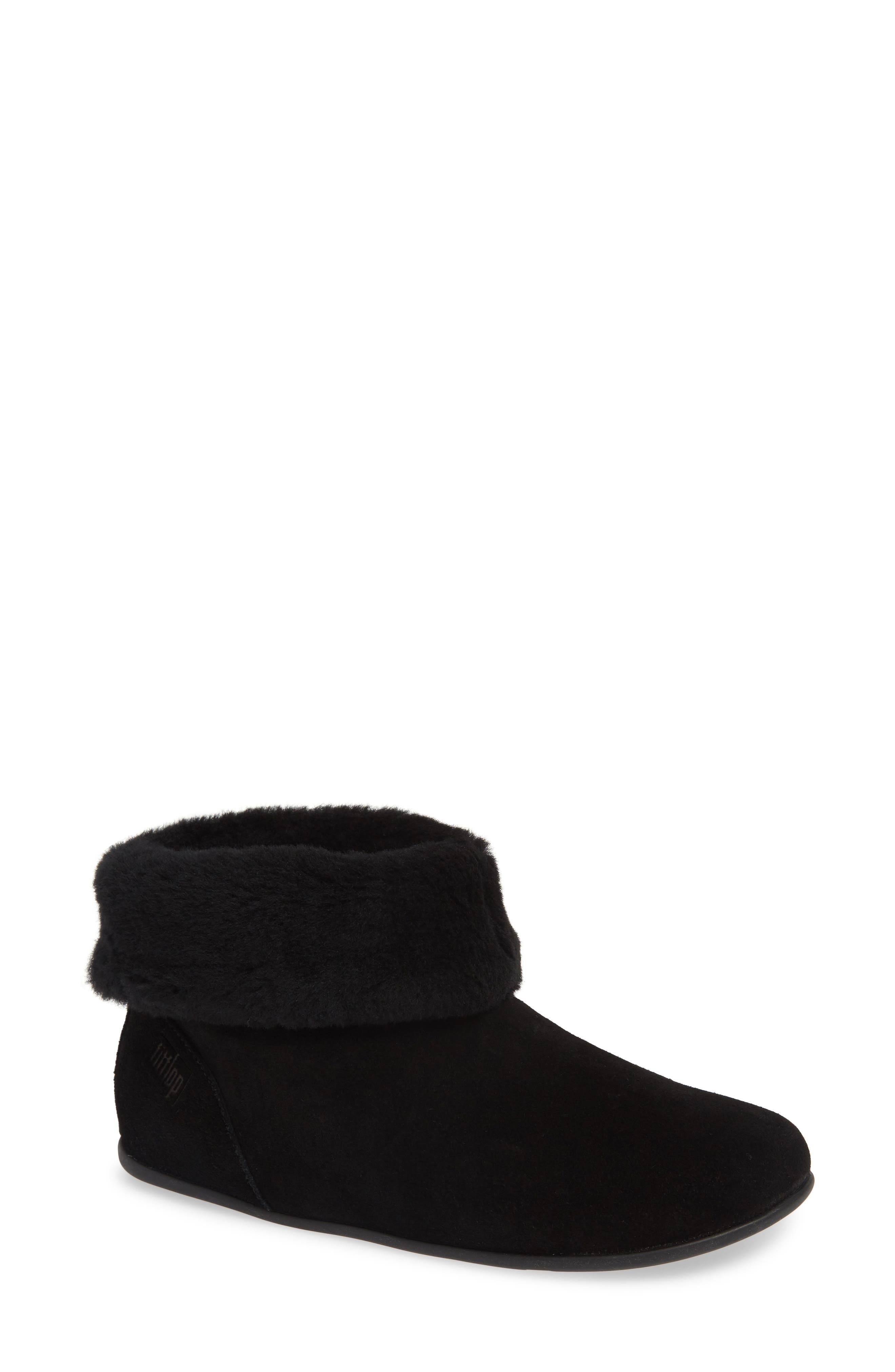 Fitflop Sarah Genuine Shearling Trim Bootie