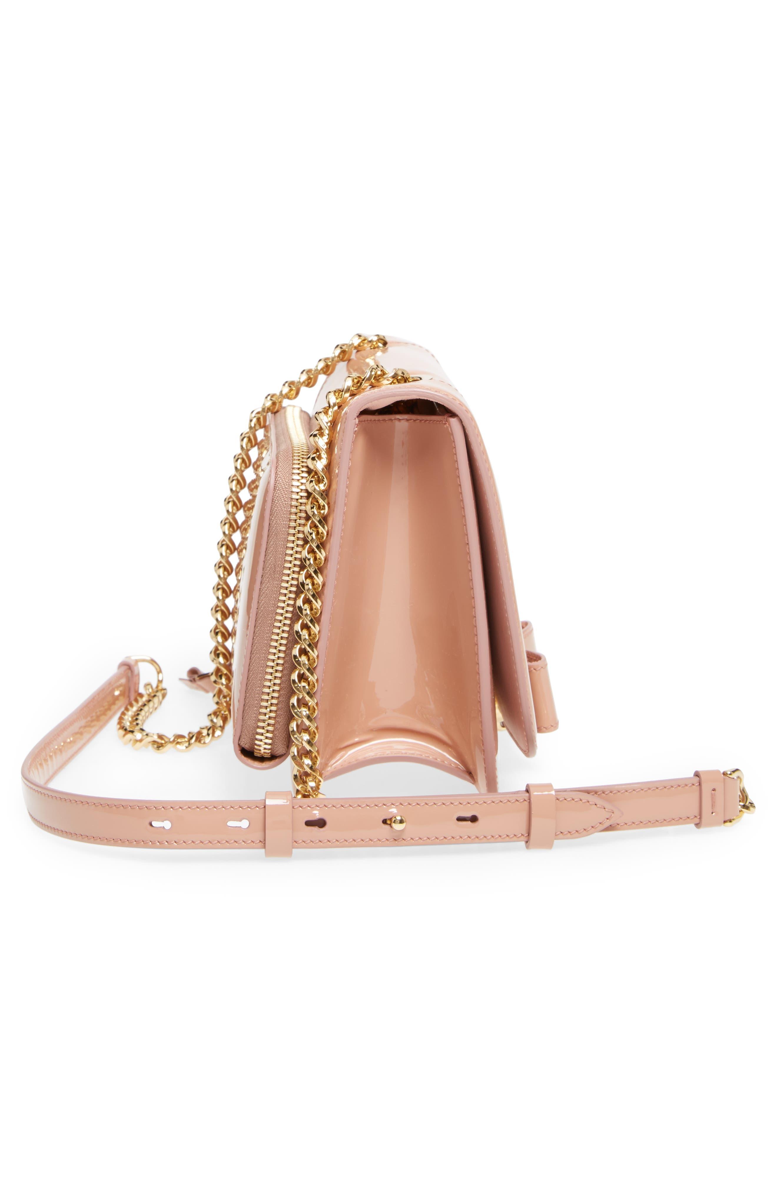 Vara Patent Leather Shoulder Bag,                             Alternate thumbnail 5, color,                             NEW BLUSH/ BONBON