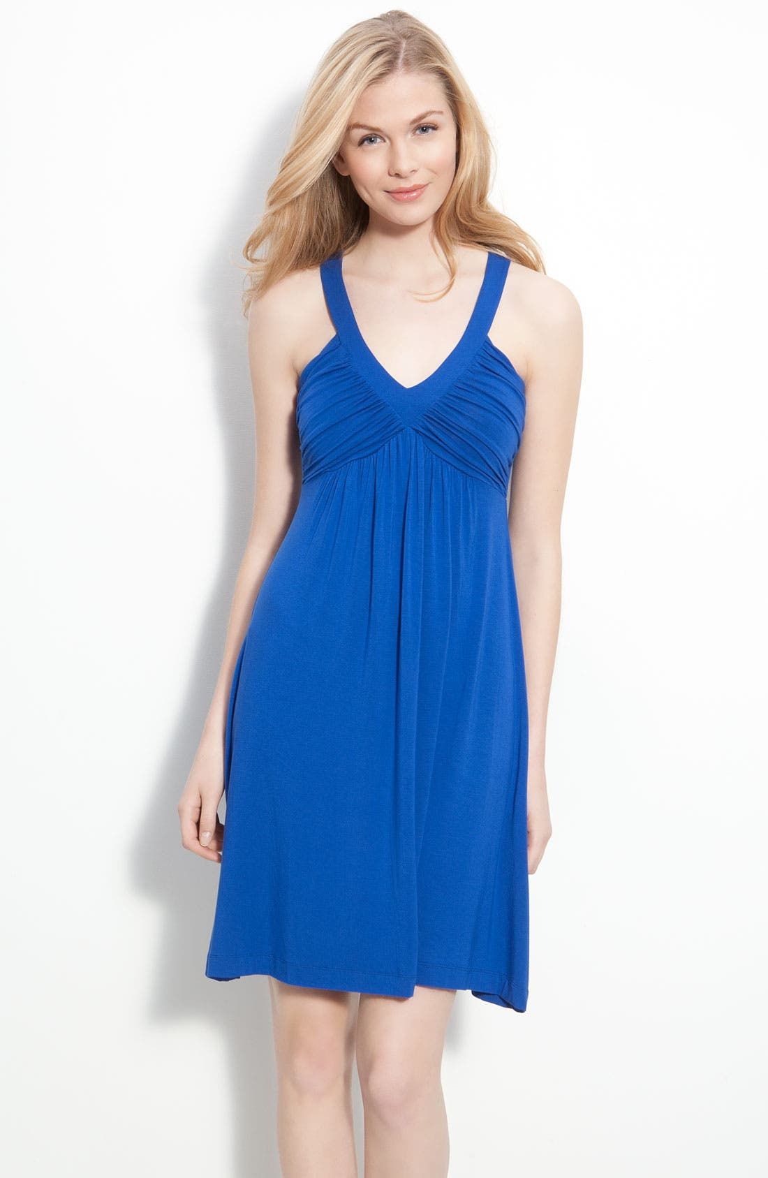 Ruched Bodice Jersey Dress,                             Main thumbnail 1, color,