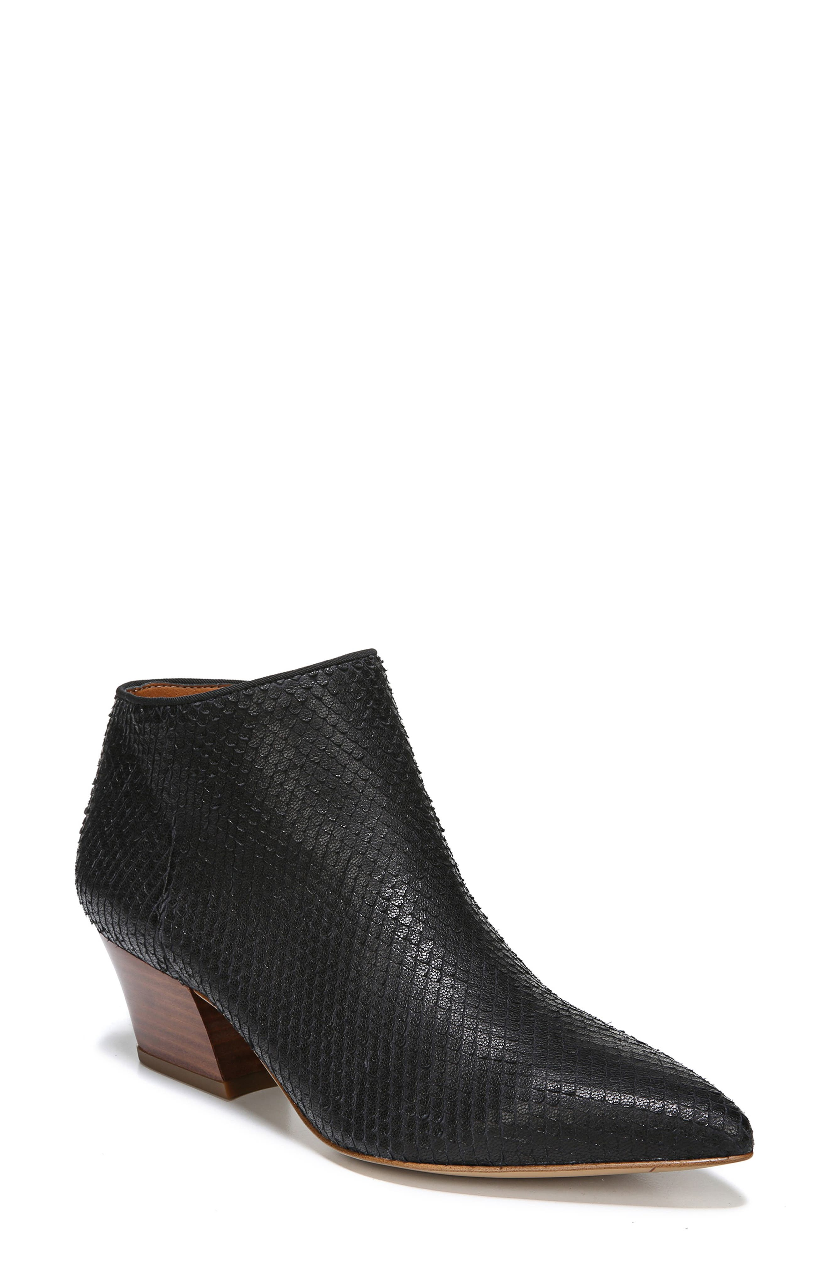 Lowe Bootie,                         Main,                         color, BLACK SNAKE PRINT LEATHER