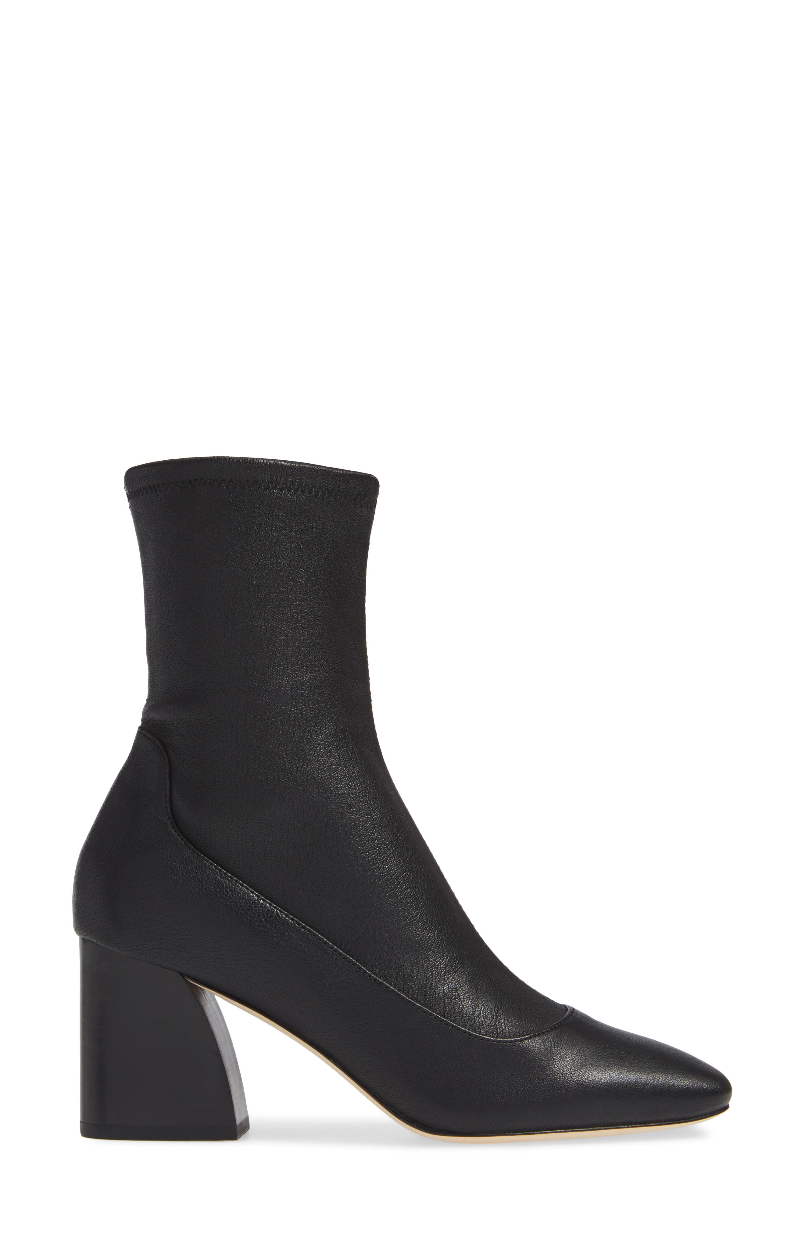 Gerrie Stretch Bootie,                             Alternate thumbnail 3, color,                             NAVY NAPPA