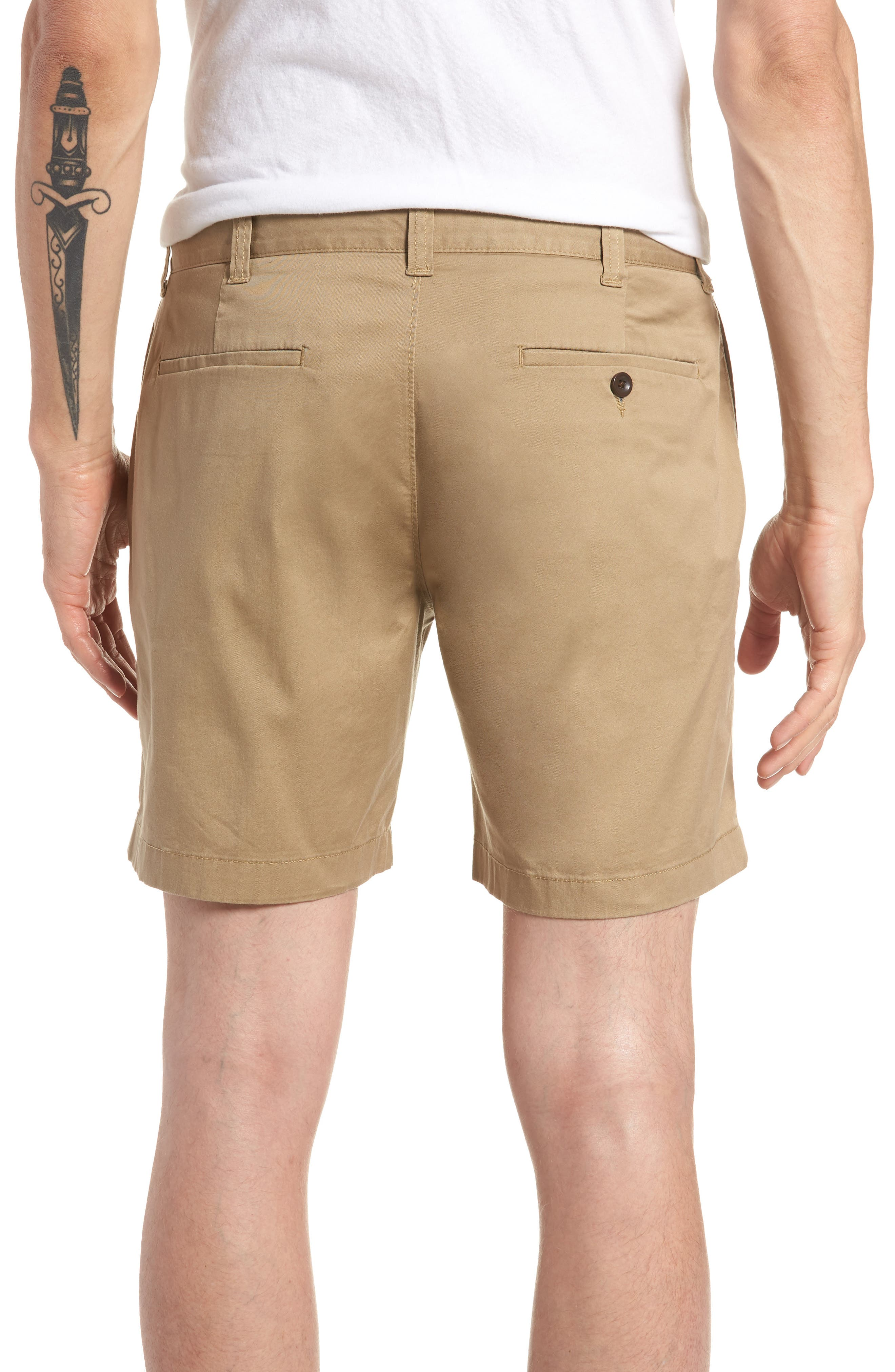 Stretch Cotton Shorts,                             Alternate thumbnail 7, color,