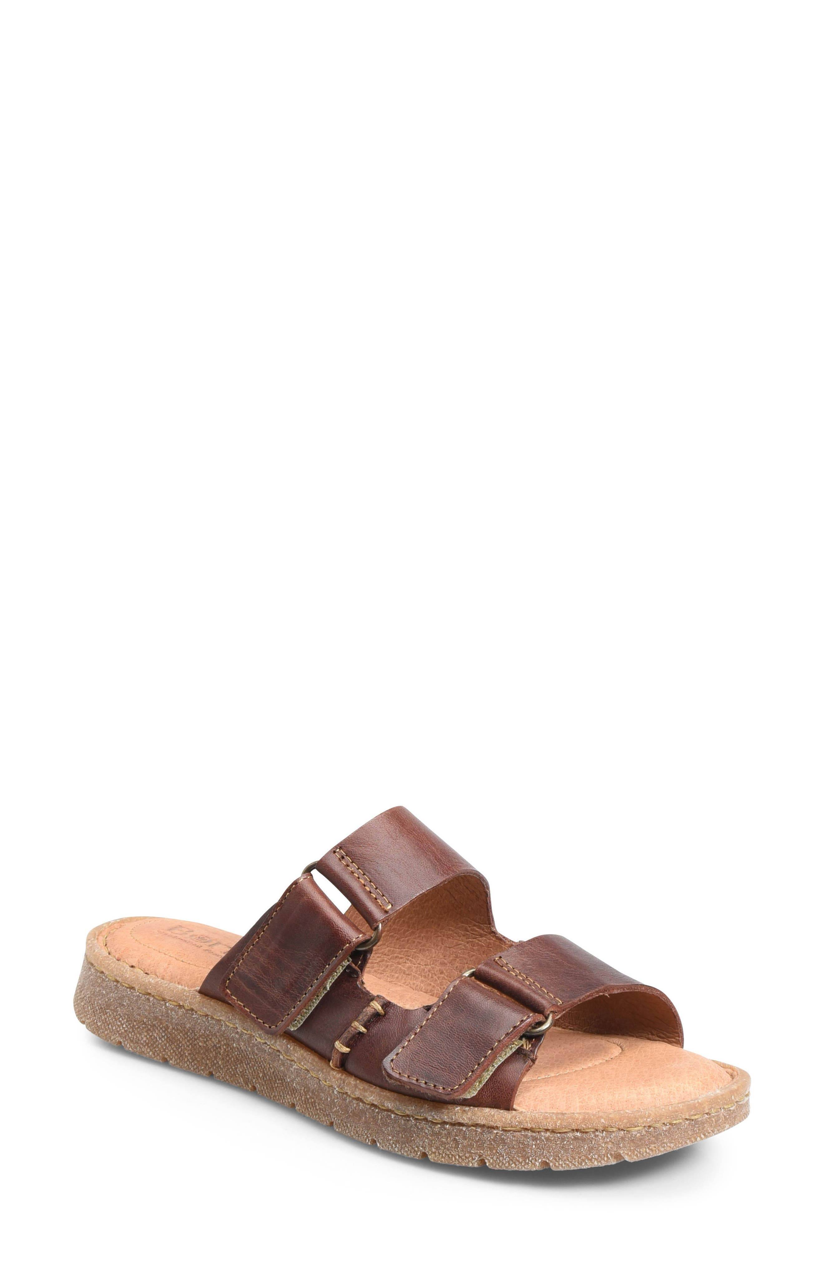 BØRN,                             Dominica Sandal,                             Main thumbnail 1, color,                             RUST LEATHER