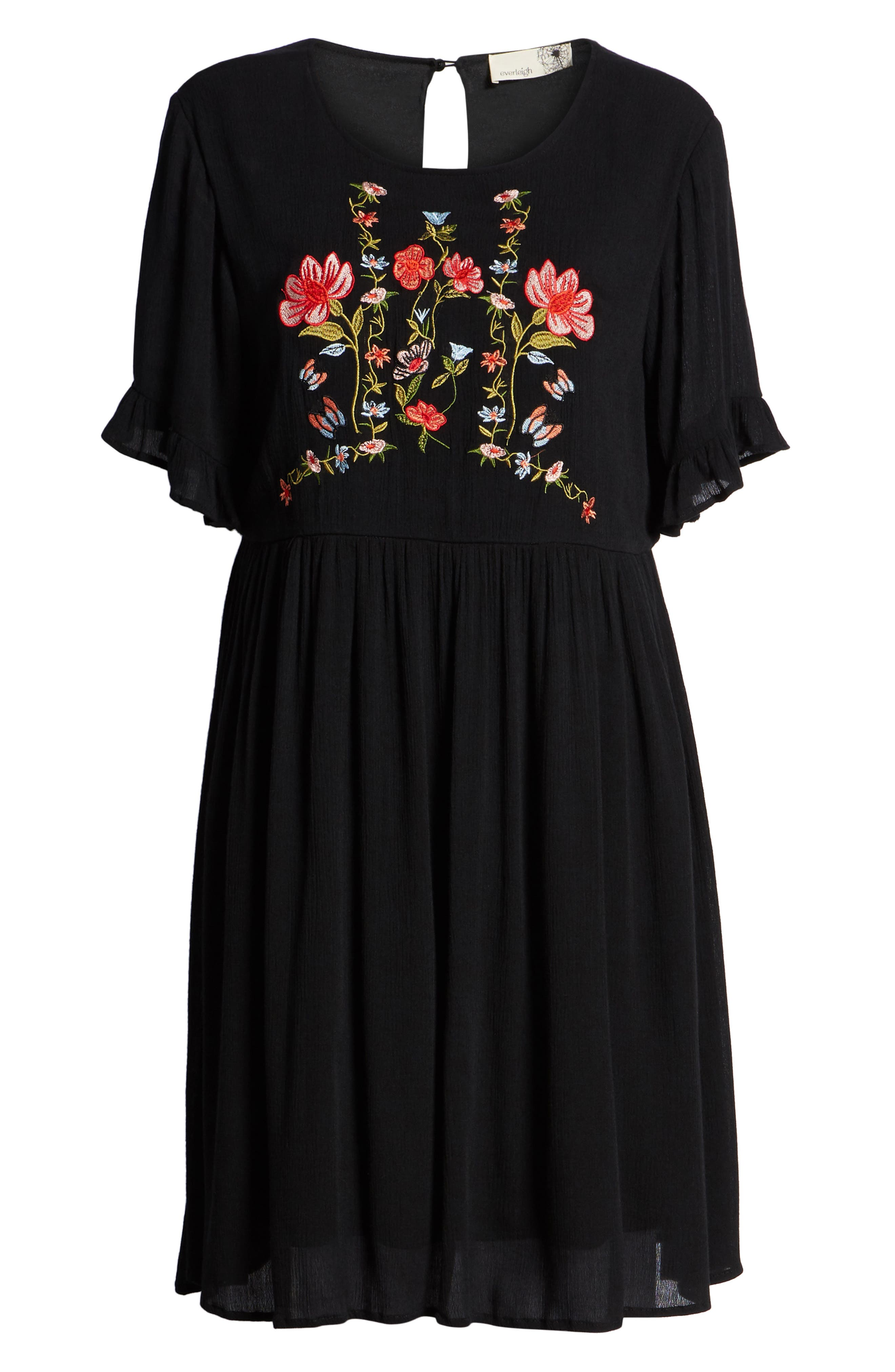 Embroidered Dress,                             Alternate thumbnail 7, color,                             001