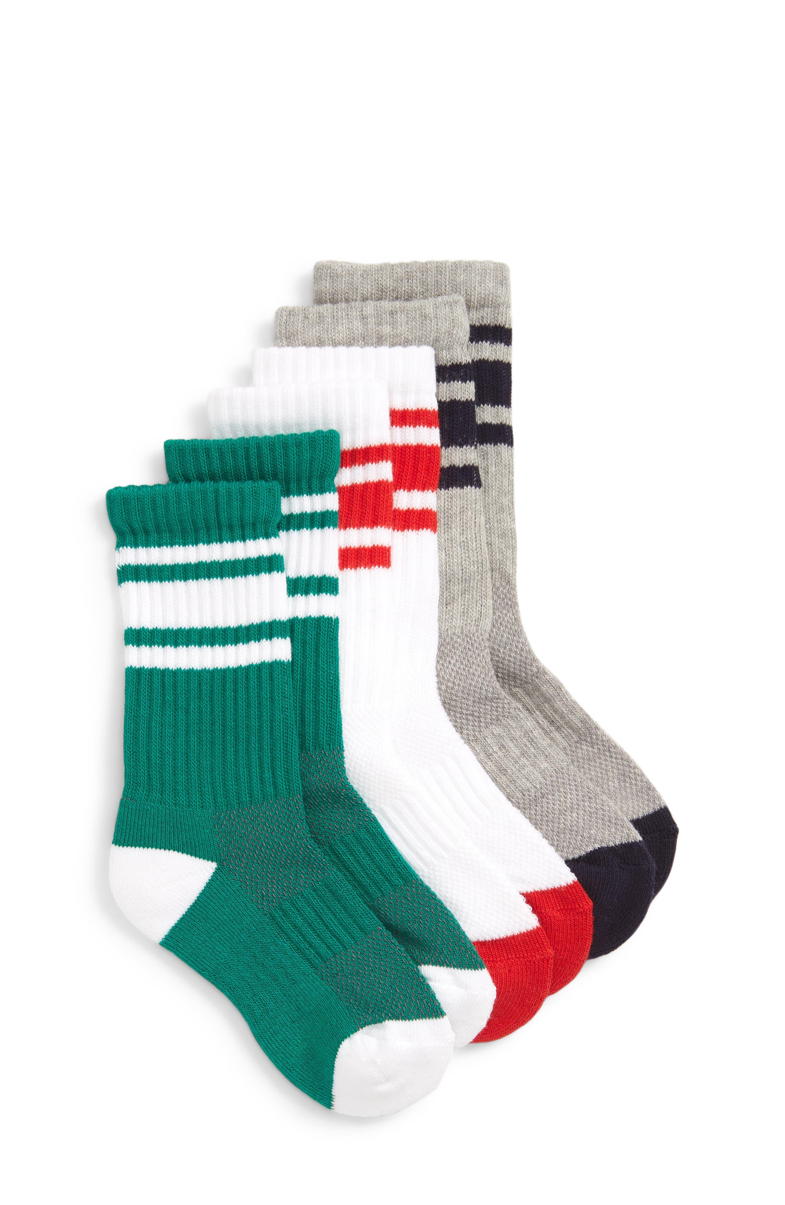 TUCKER + TATE 3-Pack Tube Socks, Main, color, 420