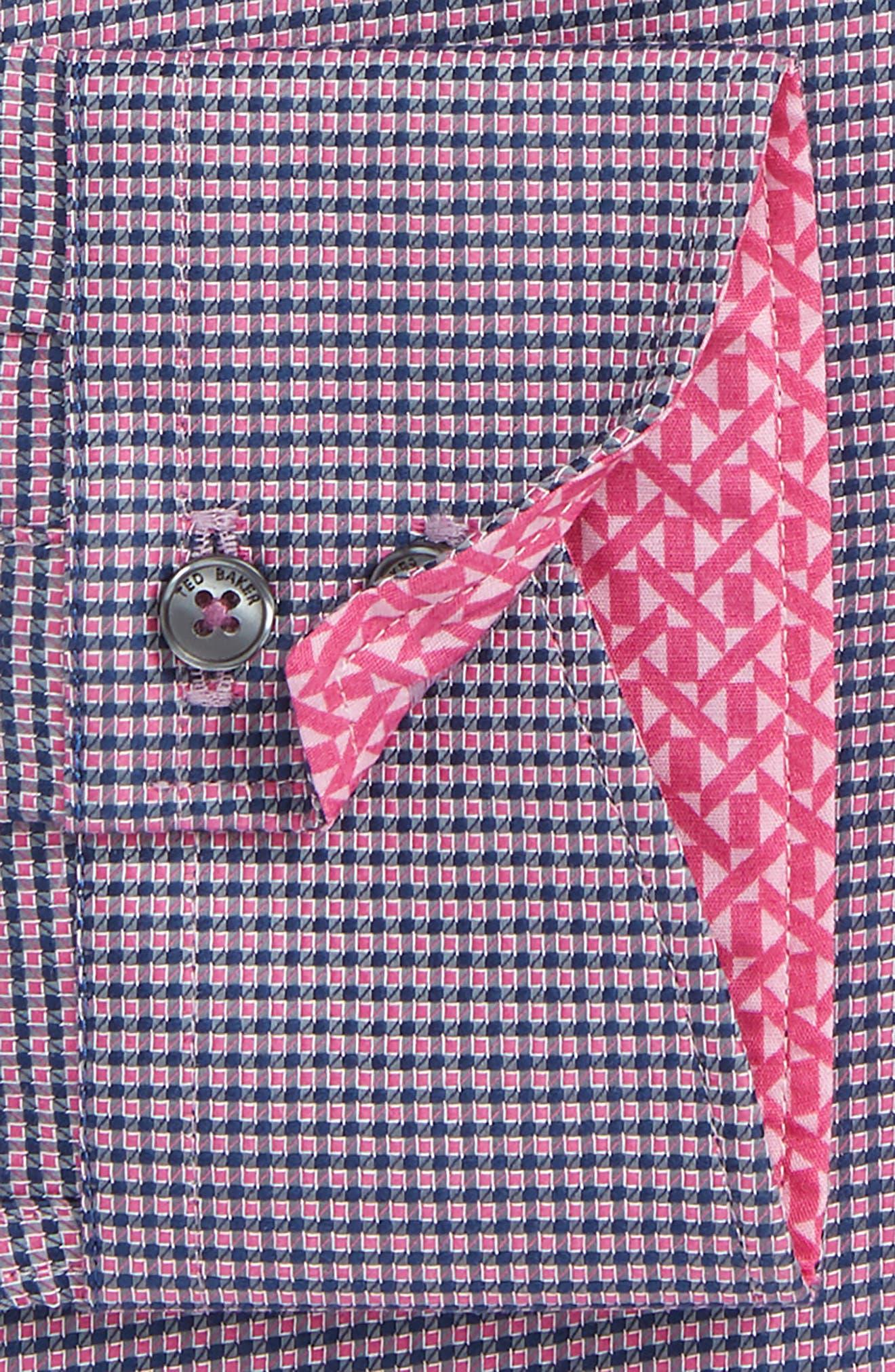 Endurance Slim Fit Box Twill Dress Shirt,                             Alternate thumbnail 2, color,                             PINK