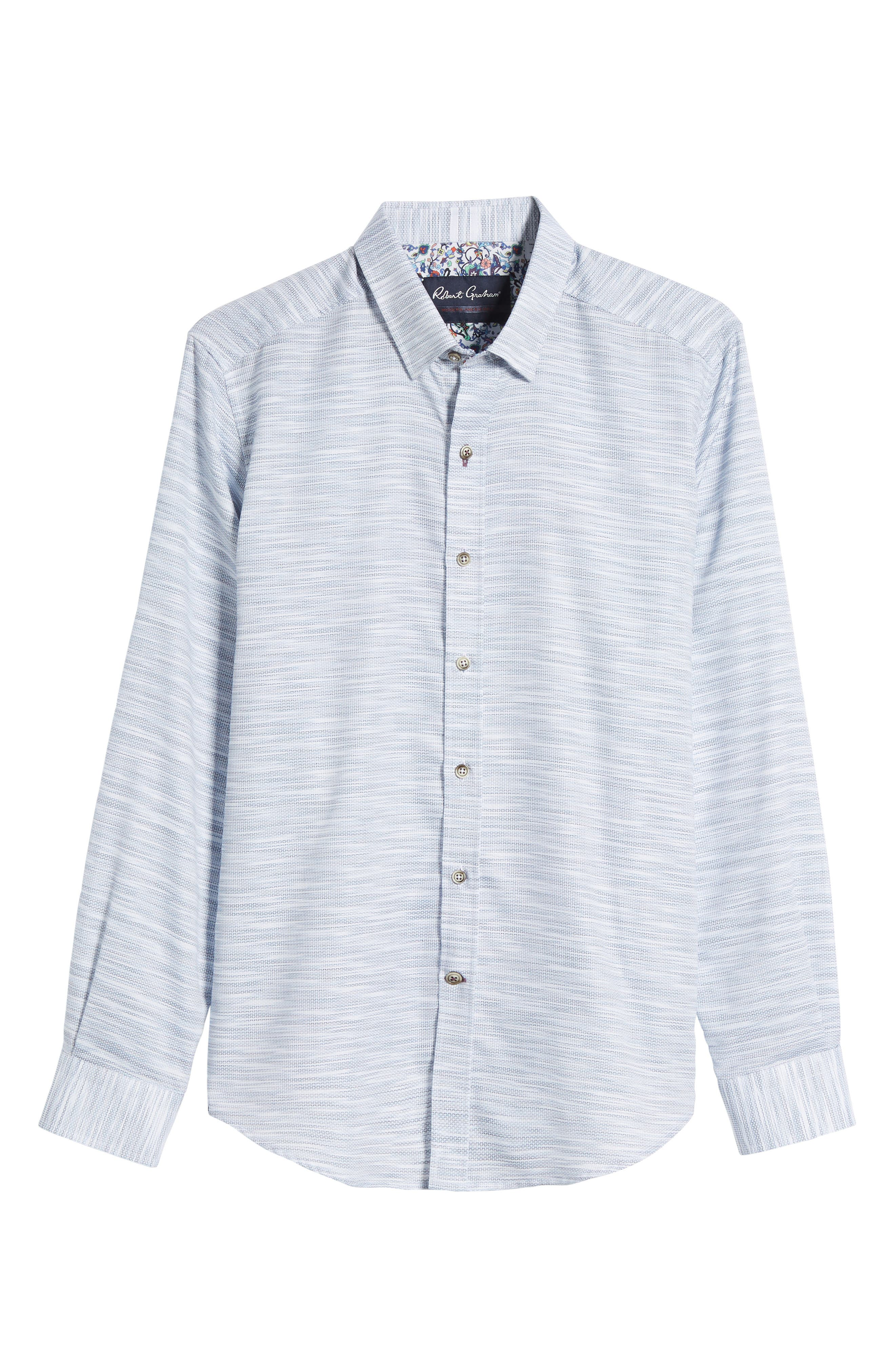 Tully Tailored Fit Sport Shirt,                             Alternate thumbnail 6, color,                             WHITE