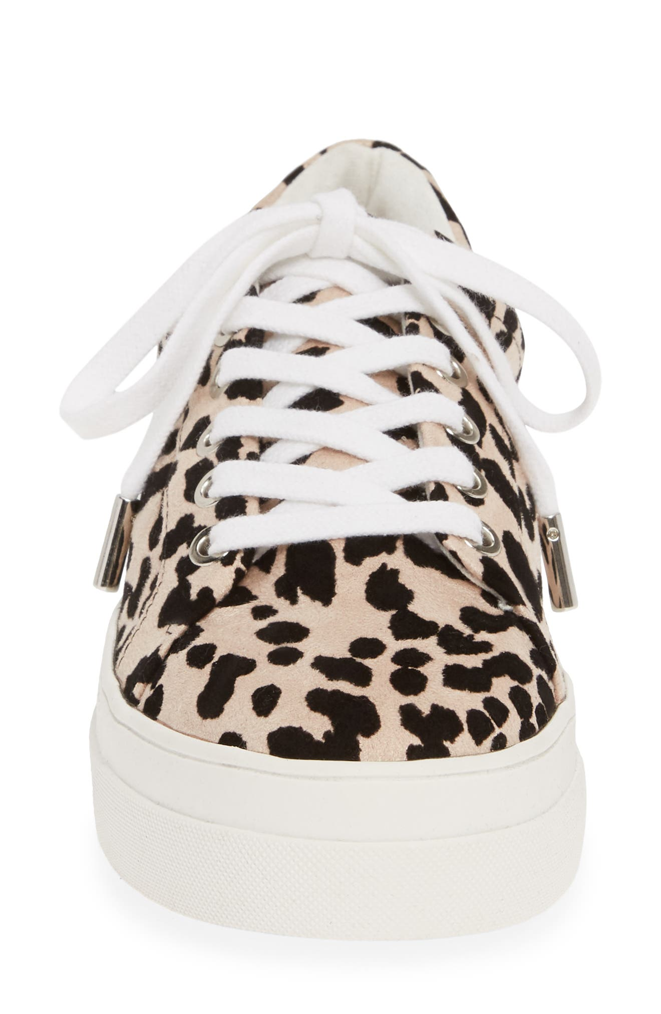 TOPSHOP,                             Candy Platform Sneaker,                             Alternate thumbnail 4, color,                             NUDE MULTI