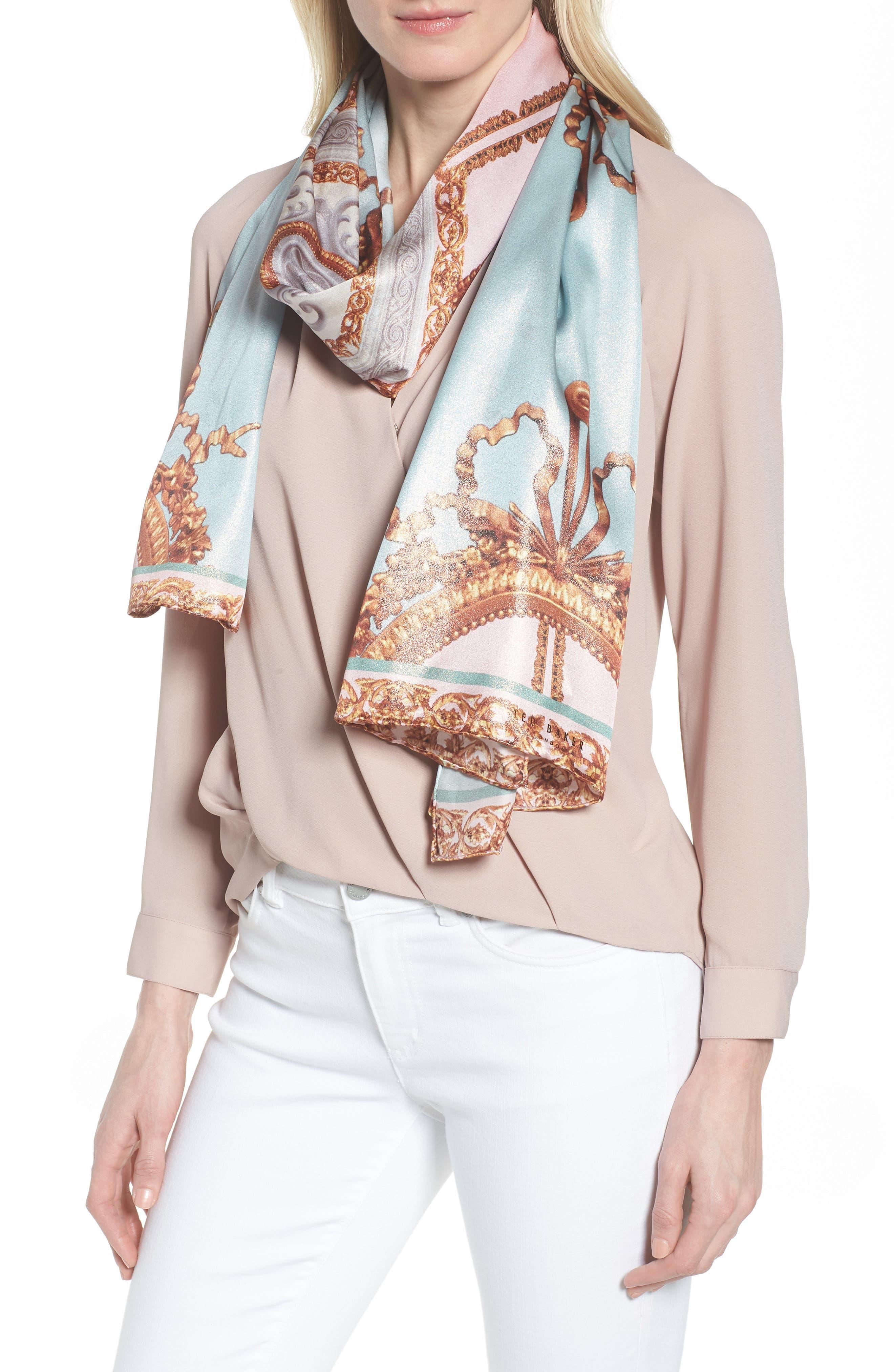 Versailles Silk Scarf,                         Main,                         color, 440