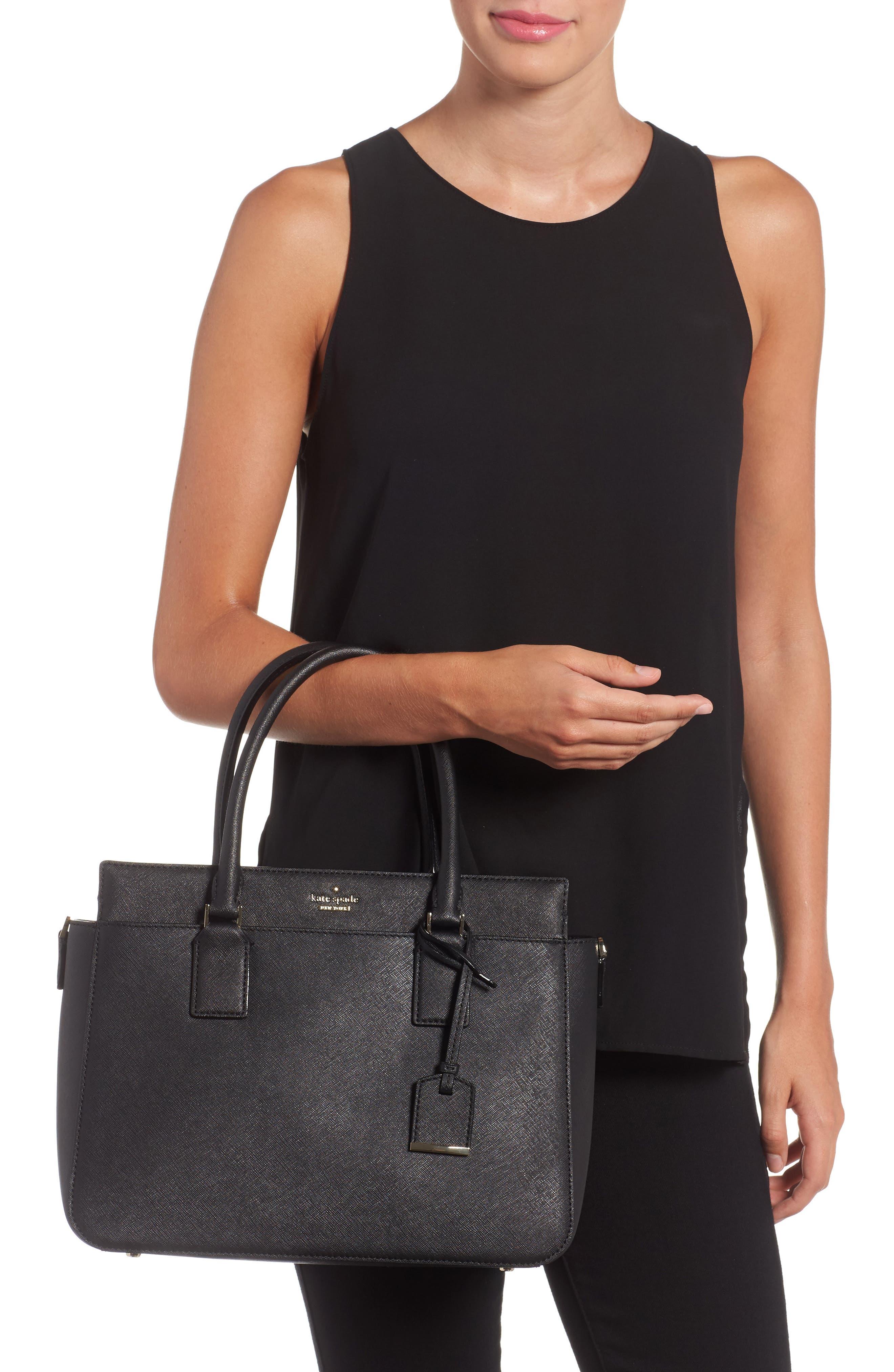 cameron street - sally leather satchel,                             Alternate thumbnail 2, color,                             001