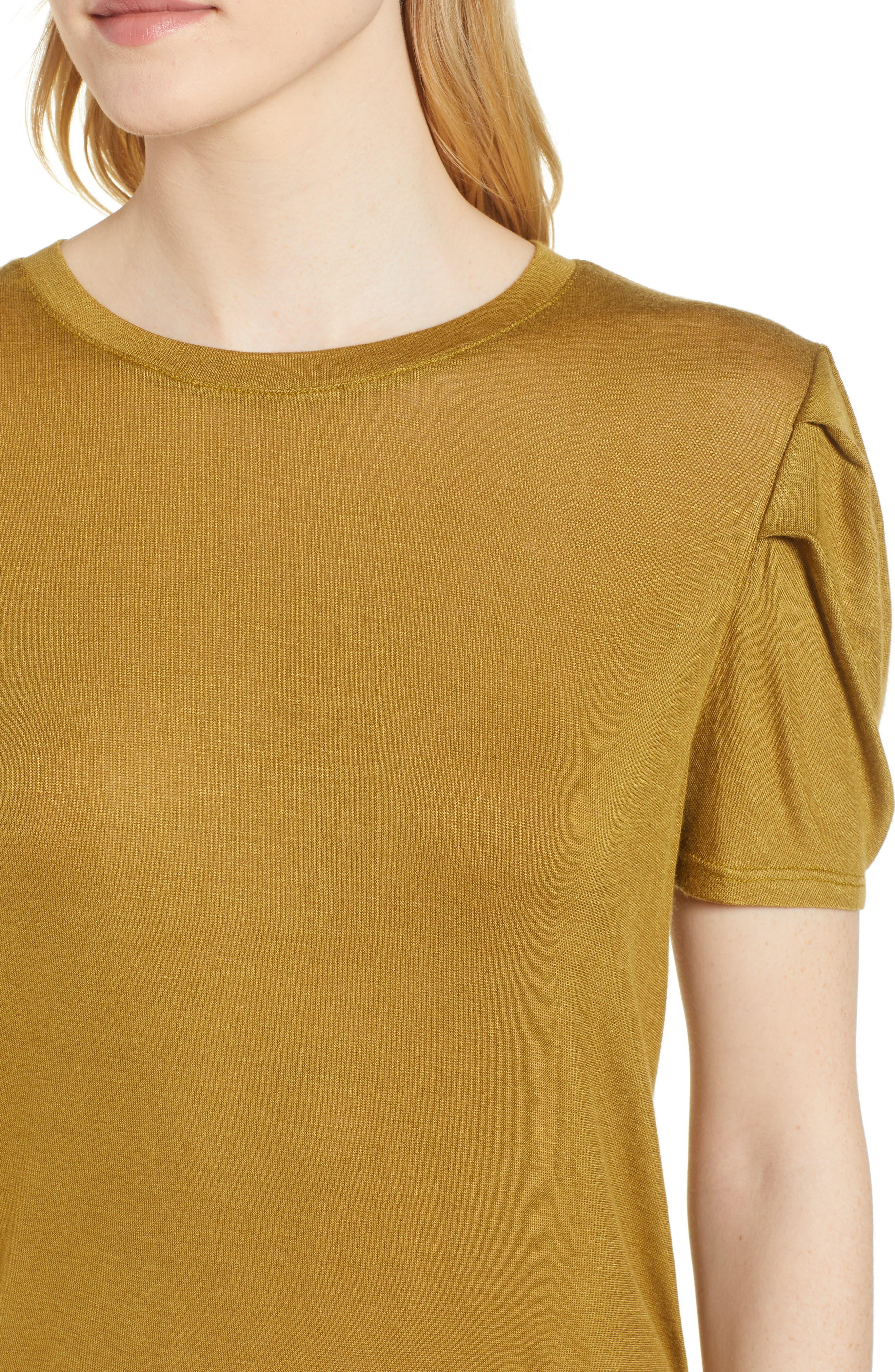 Shoulder Pleat Tee,                             Alternate thumbnail 11, color,