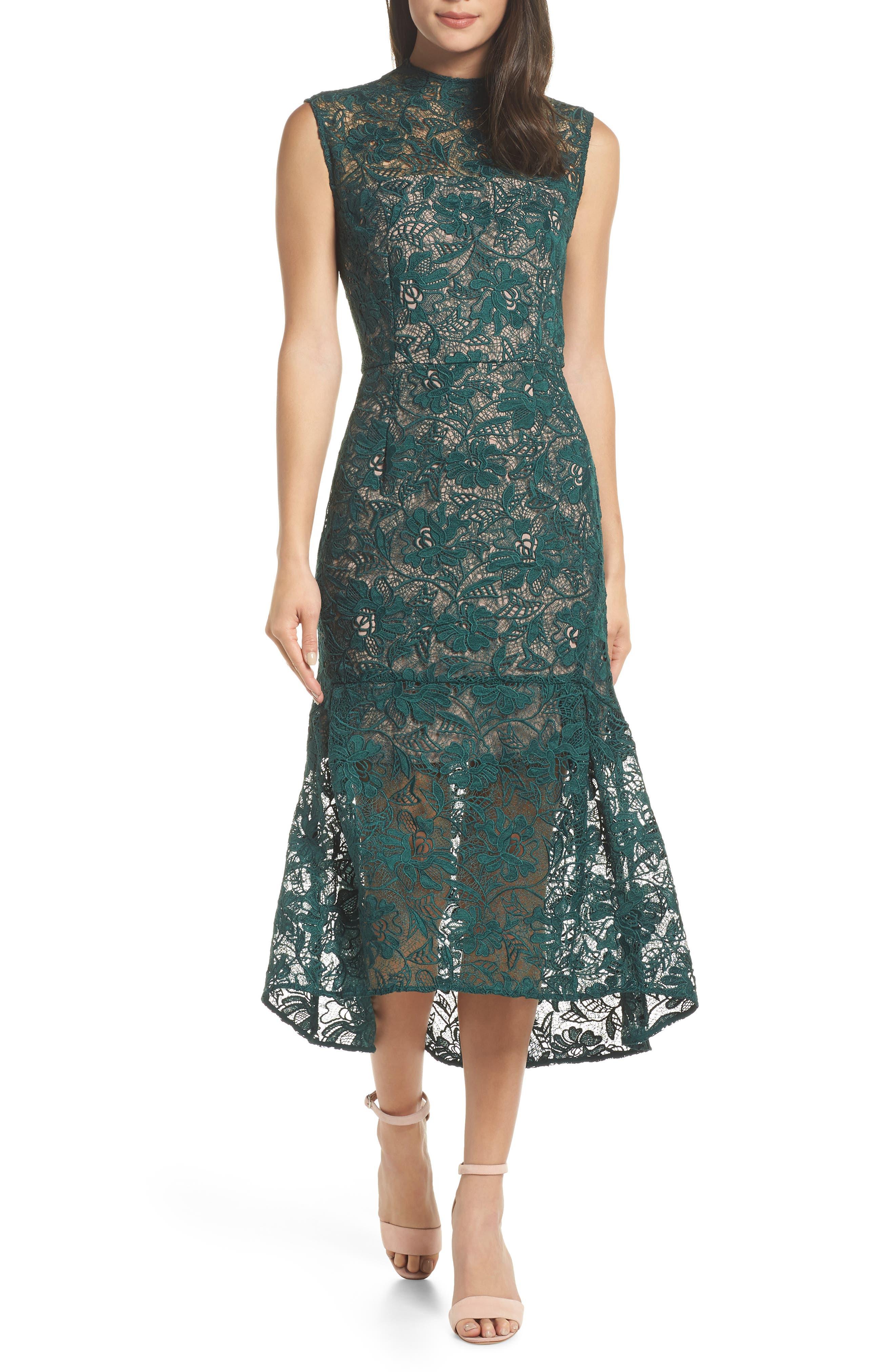 Chelsea28 Lace Midi Dress, Green