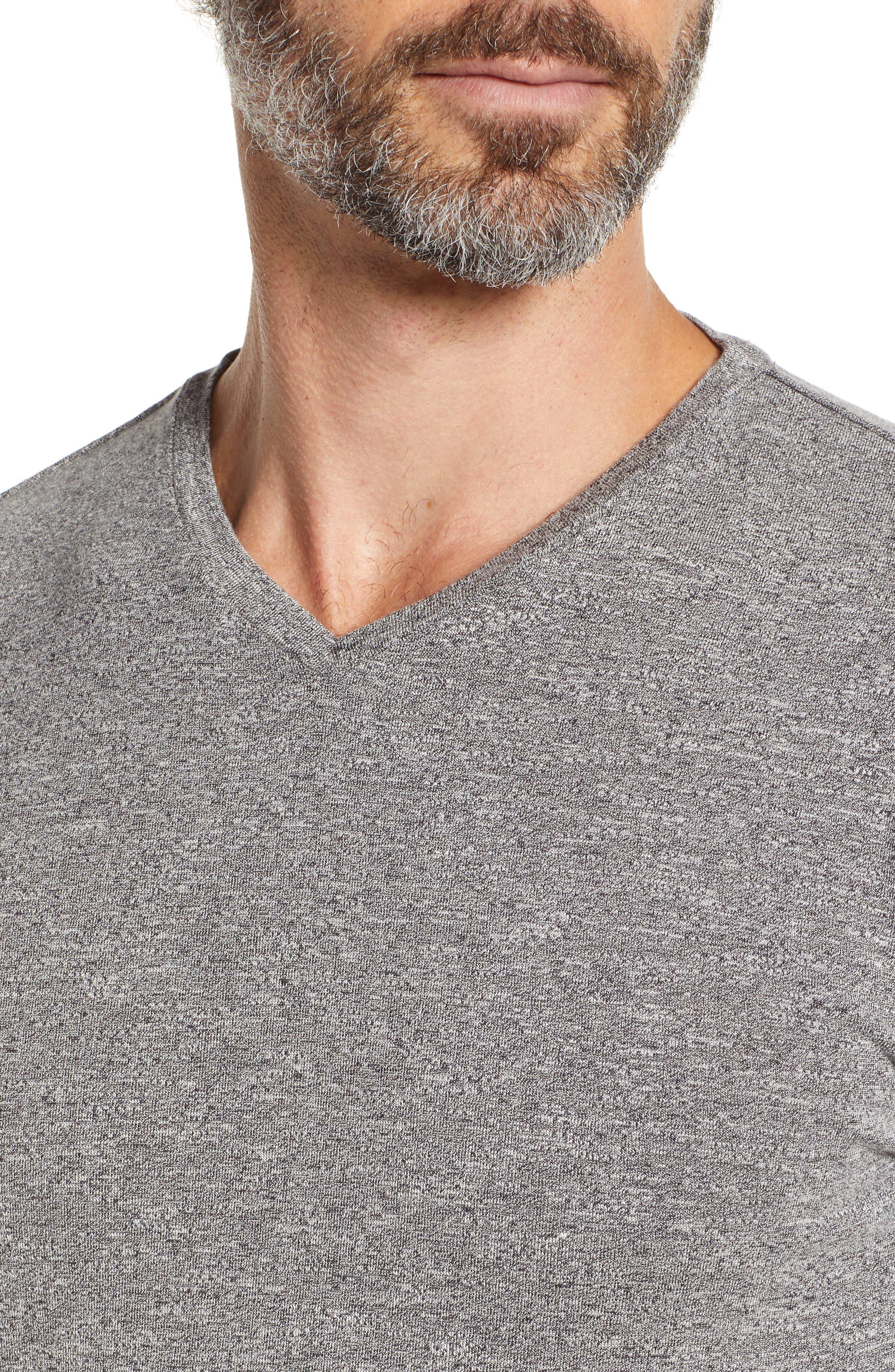 V-Neck T-Shirt,                             Alternate thumbnail 4, color,                             GREY