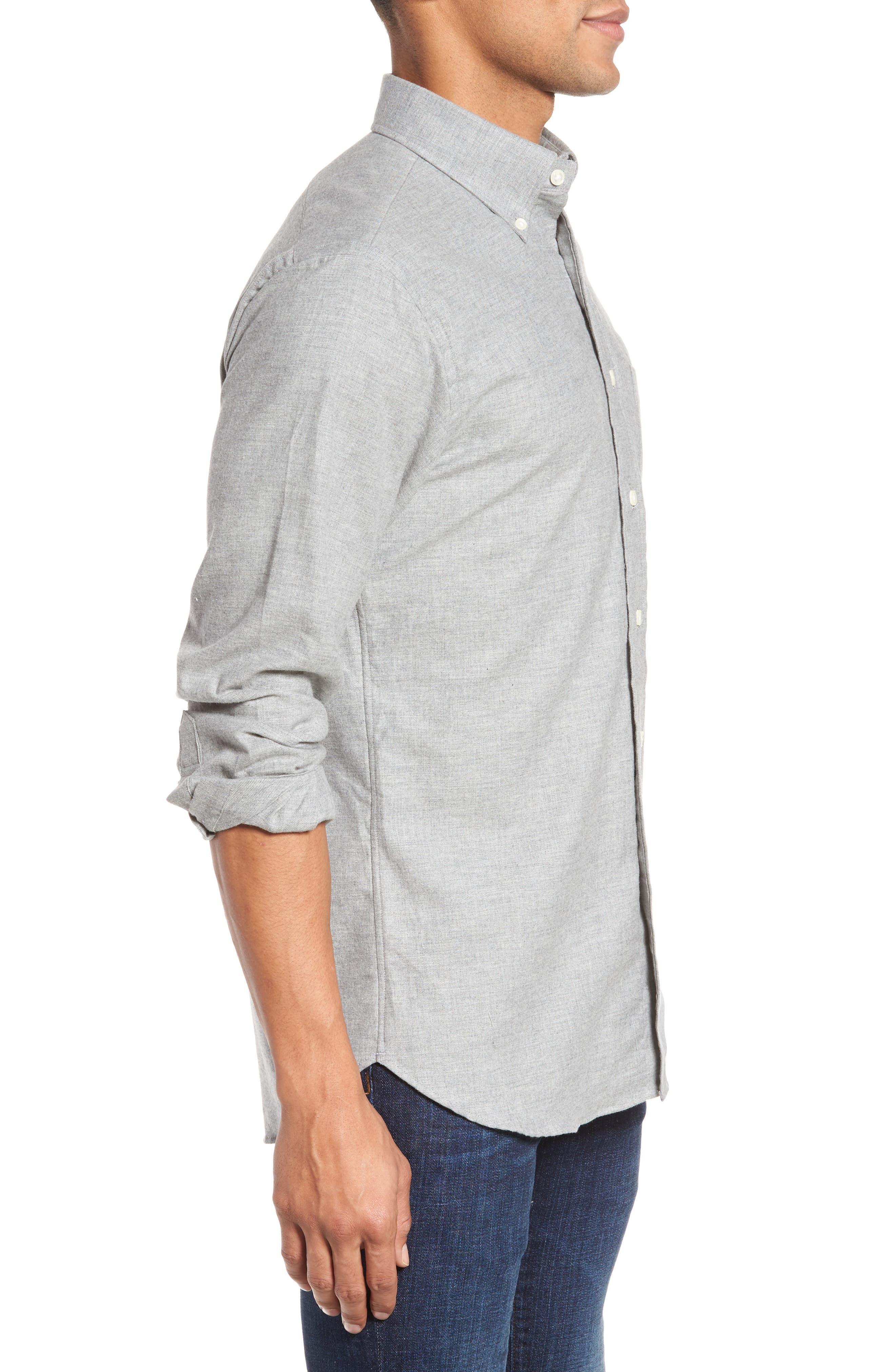Slim Fit Sport Shirt,                             Alternate thumbnail 3, color,