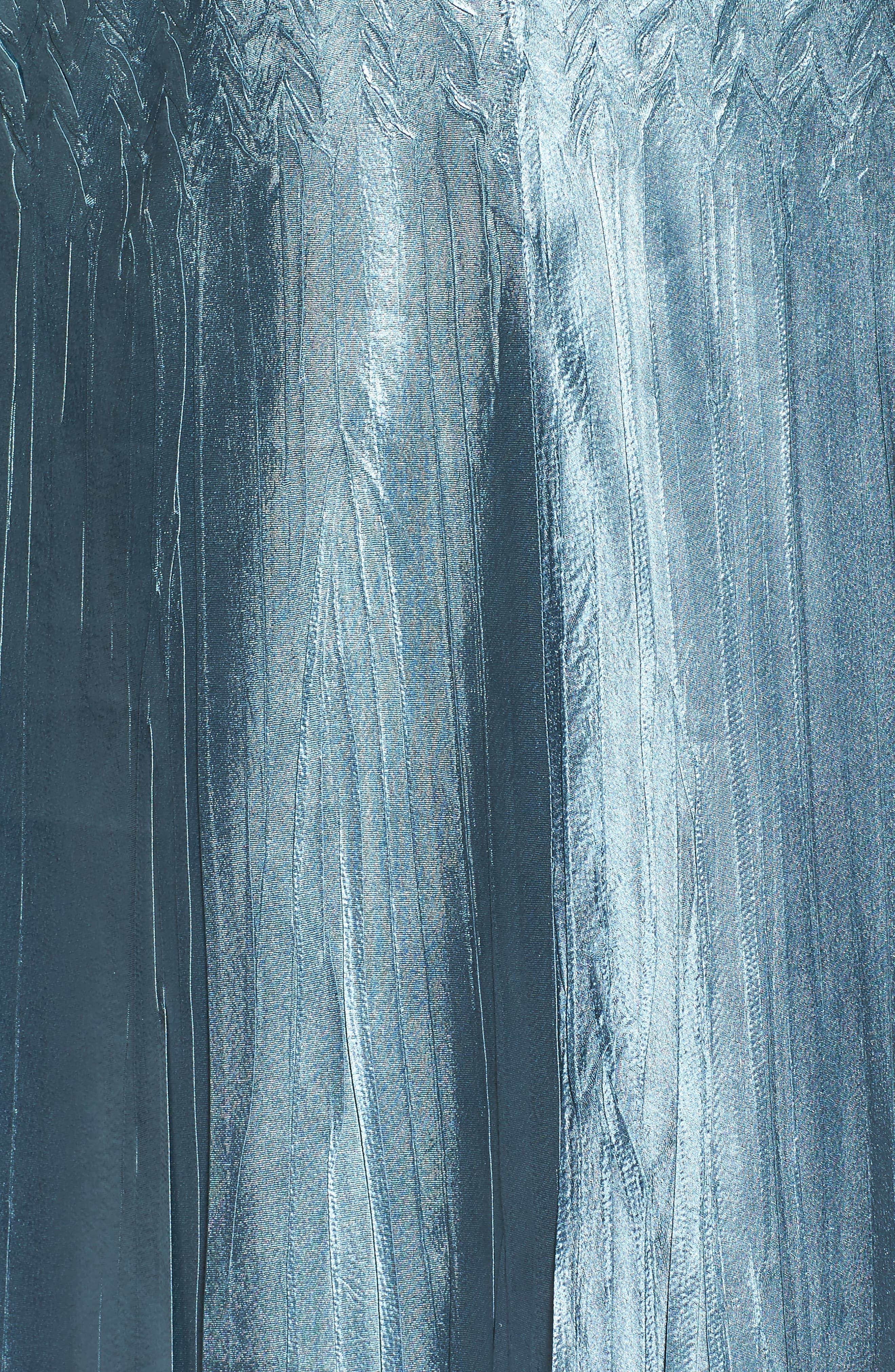 Embellished Charmeuse & Chiffon Dress with Jacket,                             Alternate thumbnail 5, color,                             460