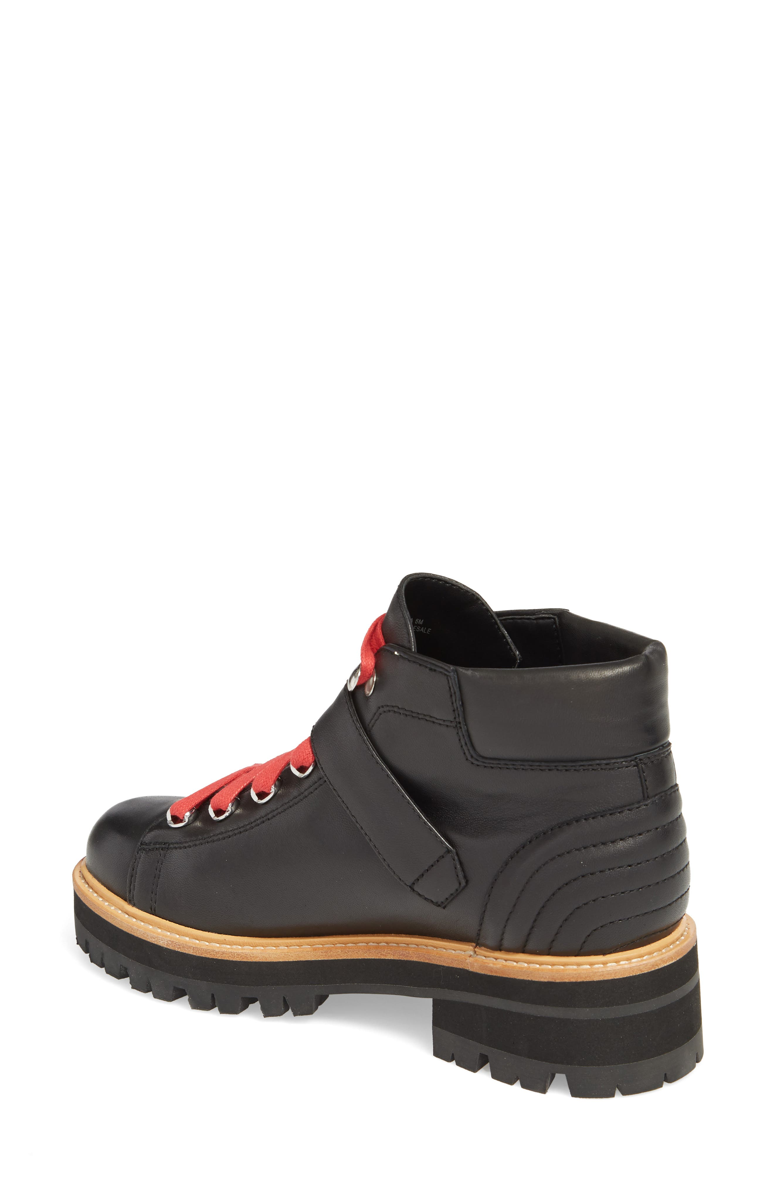 Indre Platform Boot,                             Alternate thumbnail 2, color,                             BLACK LEATHER