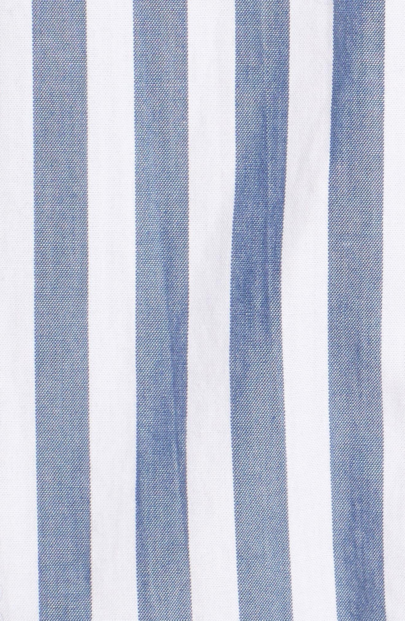 The Des Stripe Tie Back Shirt,                             Alternate thumbnail 5, color,                             497