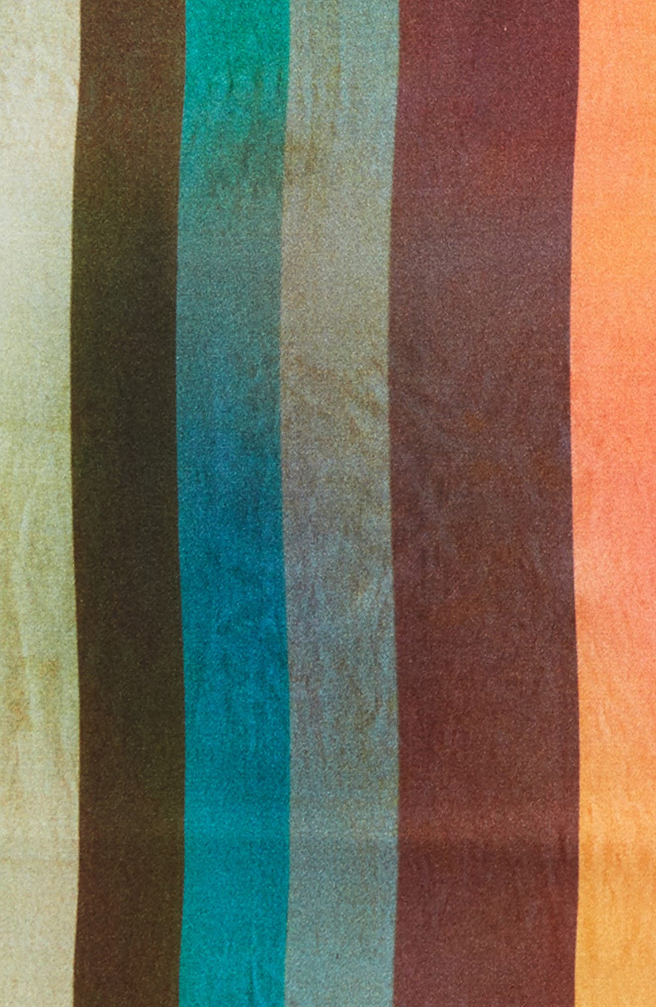 Artist Stripe Silk Pocket Square,                             Alternate thumbnail 3, color,                             WHITE