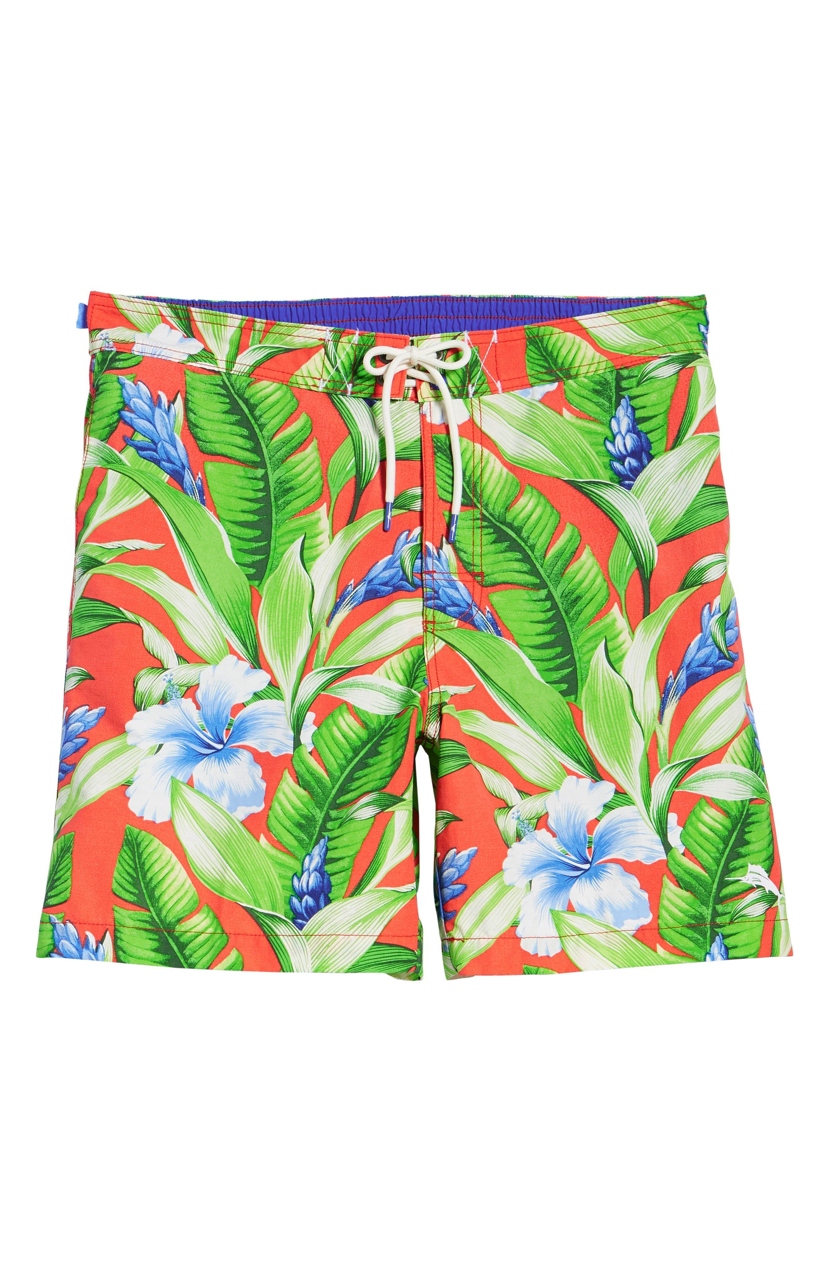 Baja Tulum Bloom Board Shorts,                             Alternate thumbnail 6, color,                             800