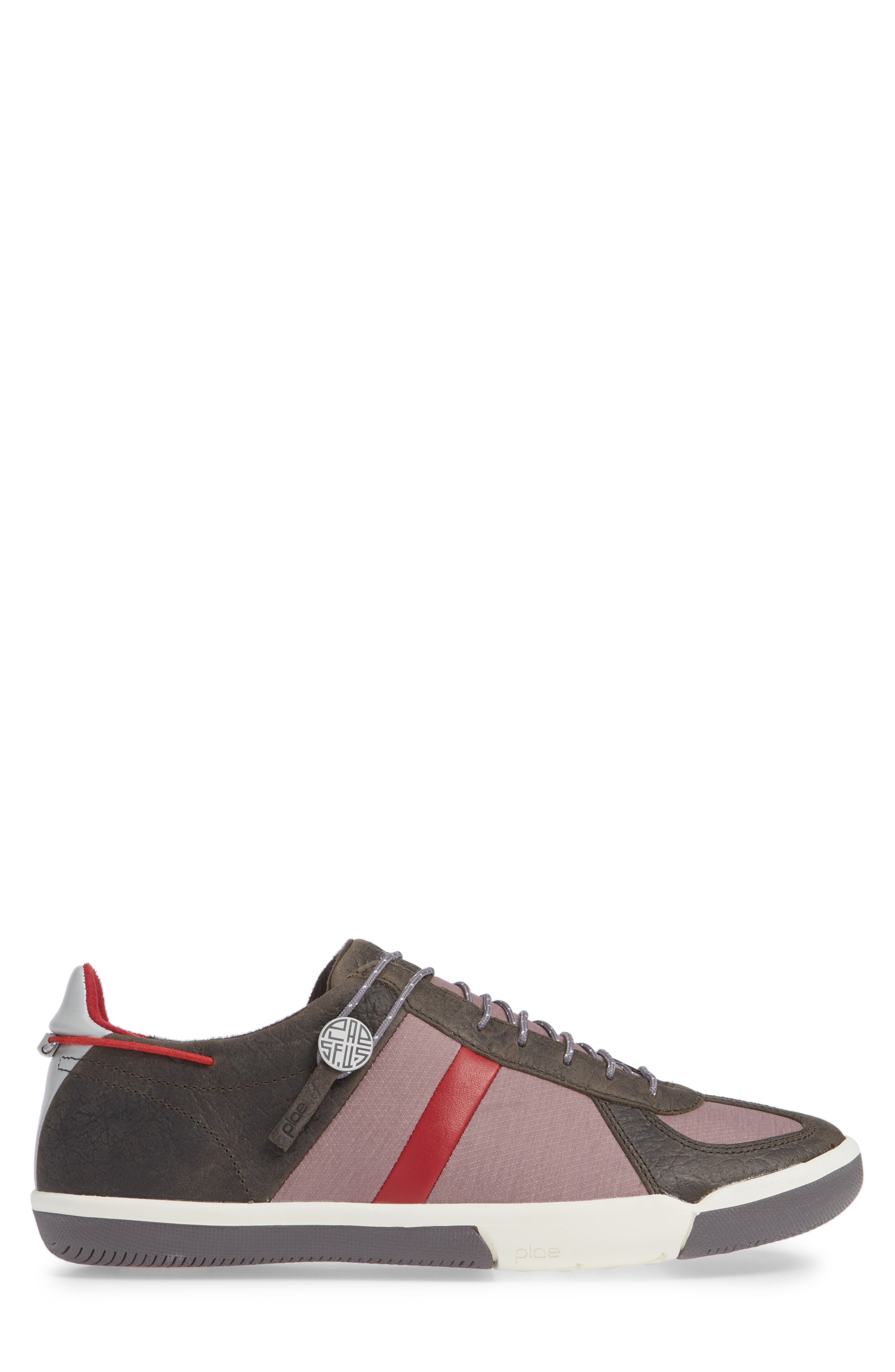 Butler Low-Top Sneaker,                             Alternate thumbnail 3, color,                             EMBER BROWN LEATHER