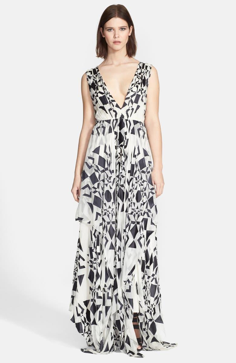 8b1d9b298c Alice + Olivia  Esmay  Graphic Print Handkerchief Maxi Dress