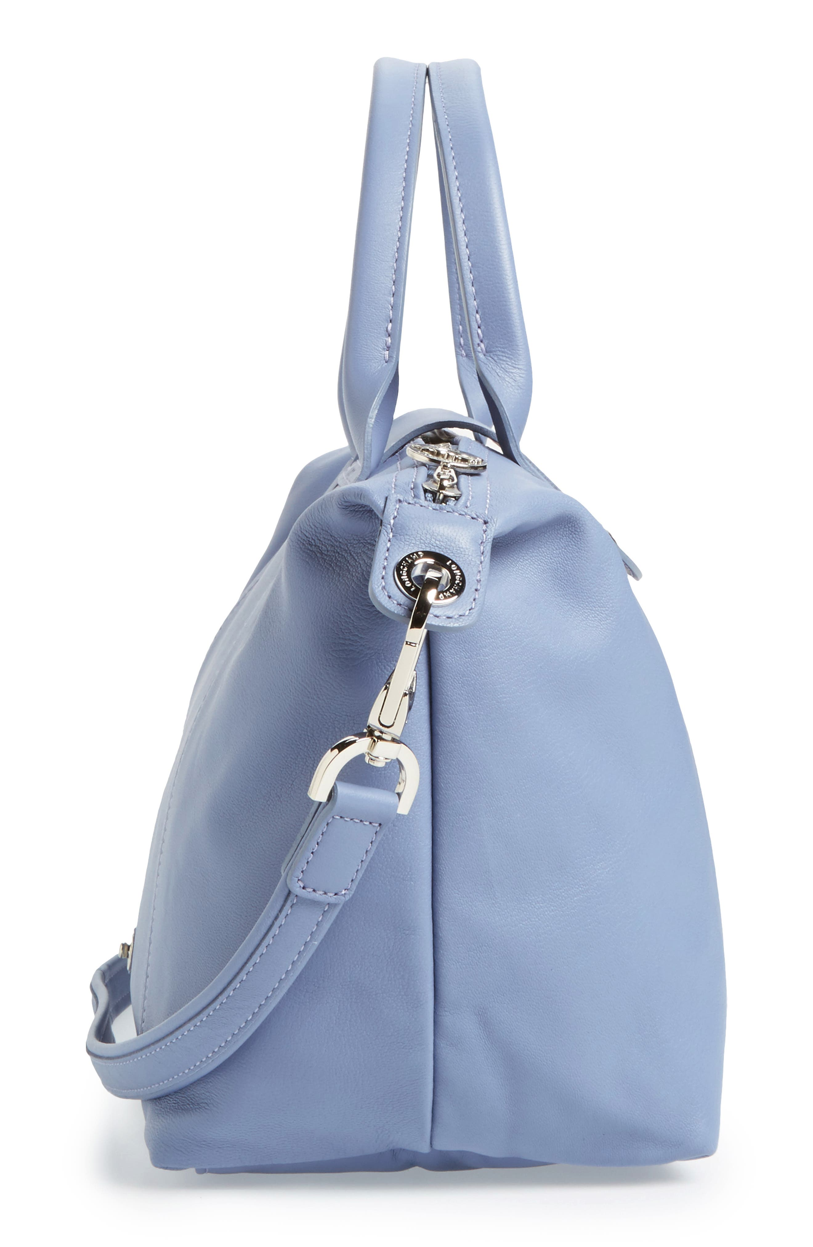 Small 'Le Pliage Cuir' Leather Top Handle Tote,                             Alternate thumbnail 76, color,