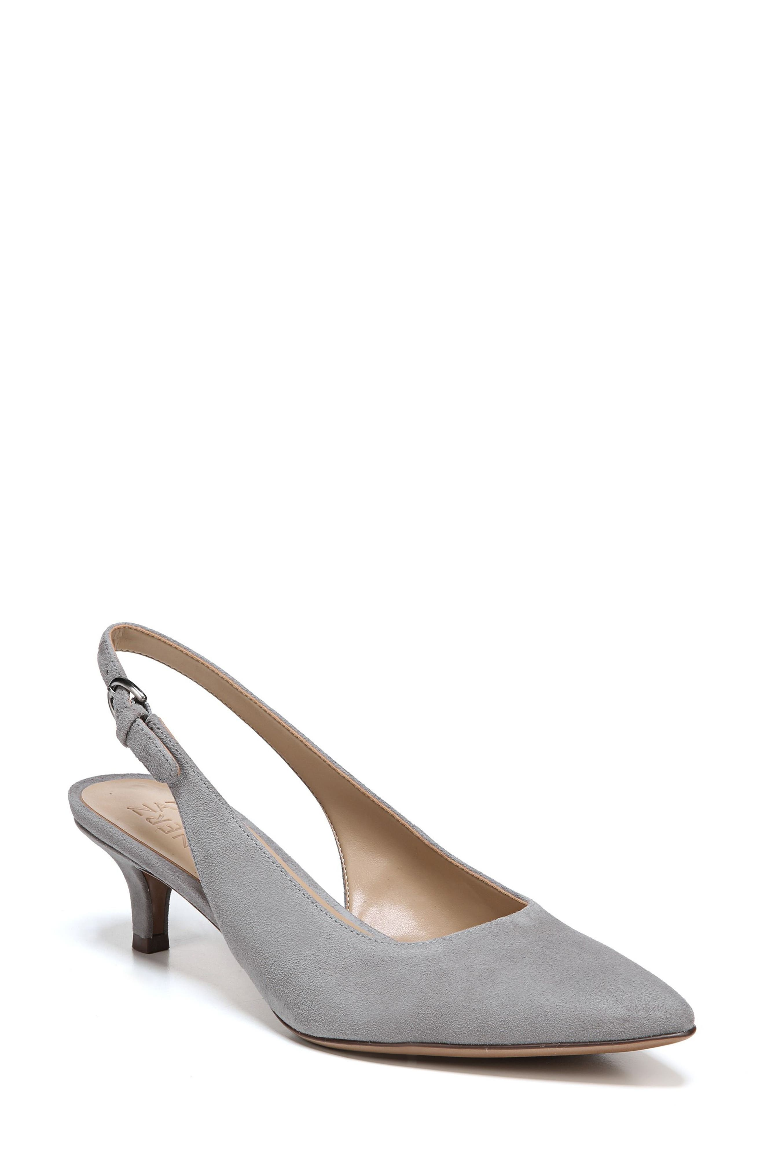 Slingback Pump,                             Main thumbnail 1, color,                             GREY SUEDE