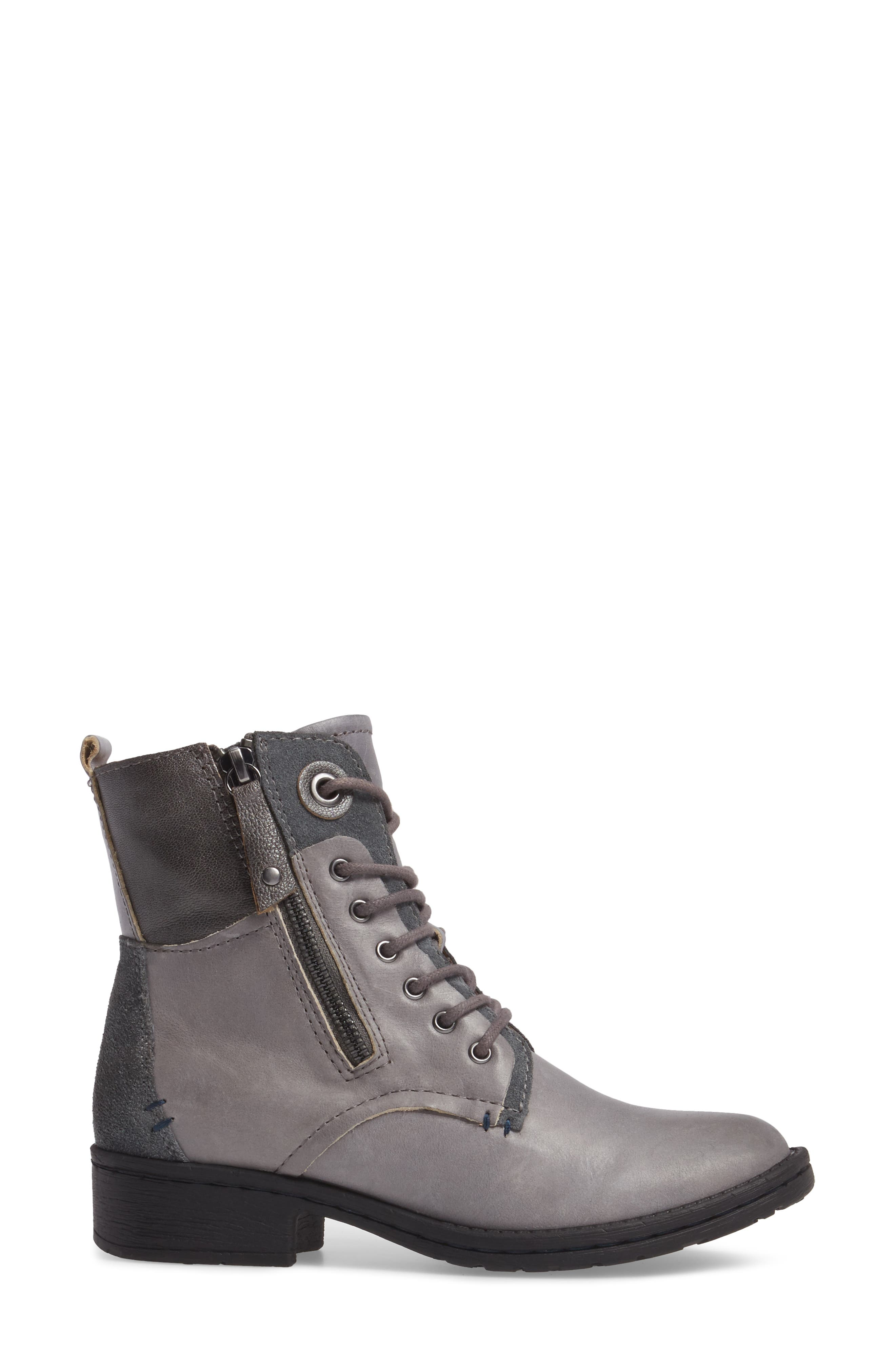 COMFORTIVA,                             Sarango Lace-Up Boot,                             Alternate thumbnail 3, color,                             GREY LEATHER