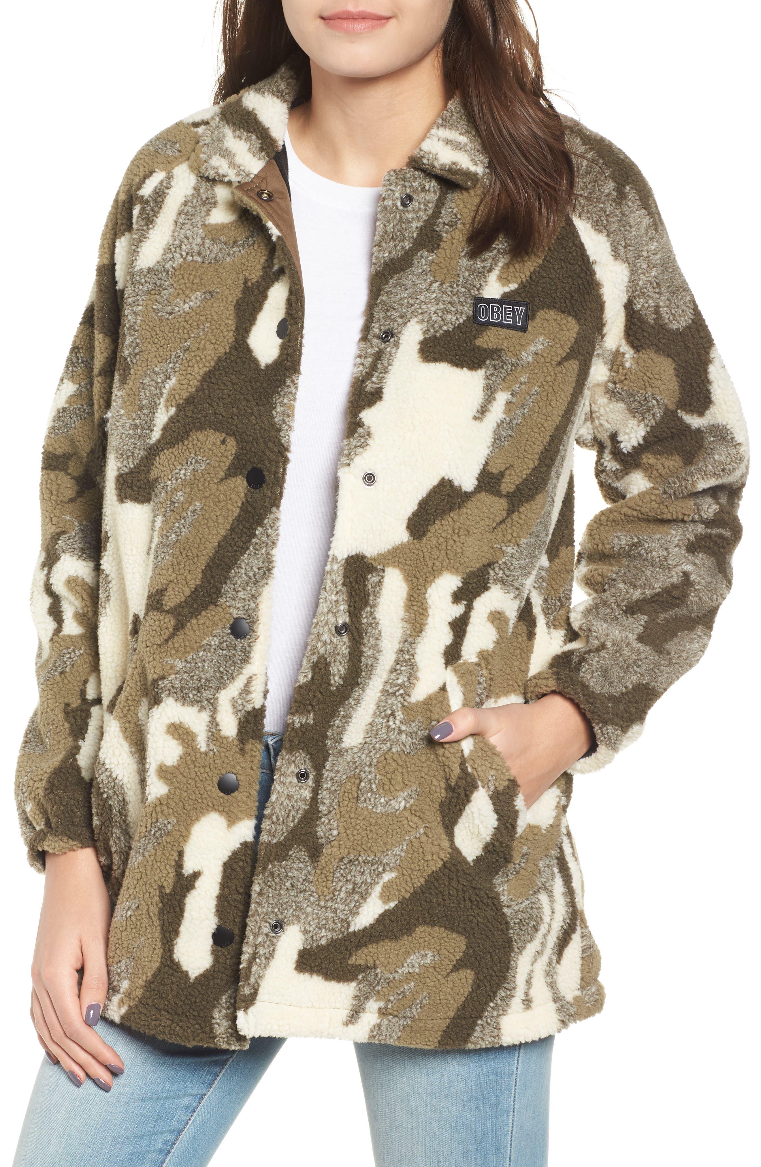 Obey Covert Fleece Jacket, Green
