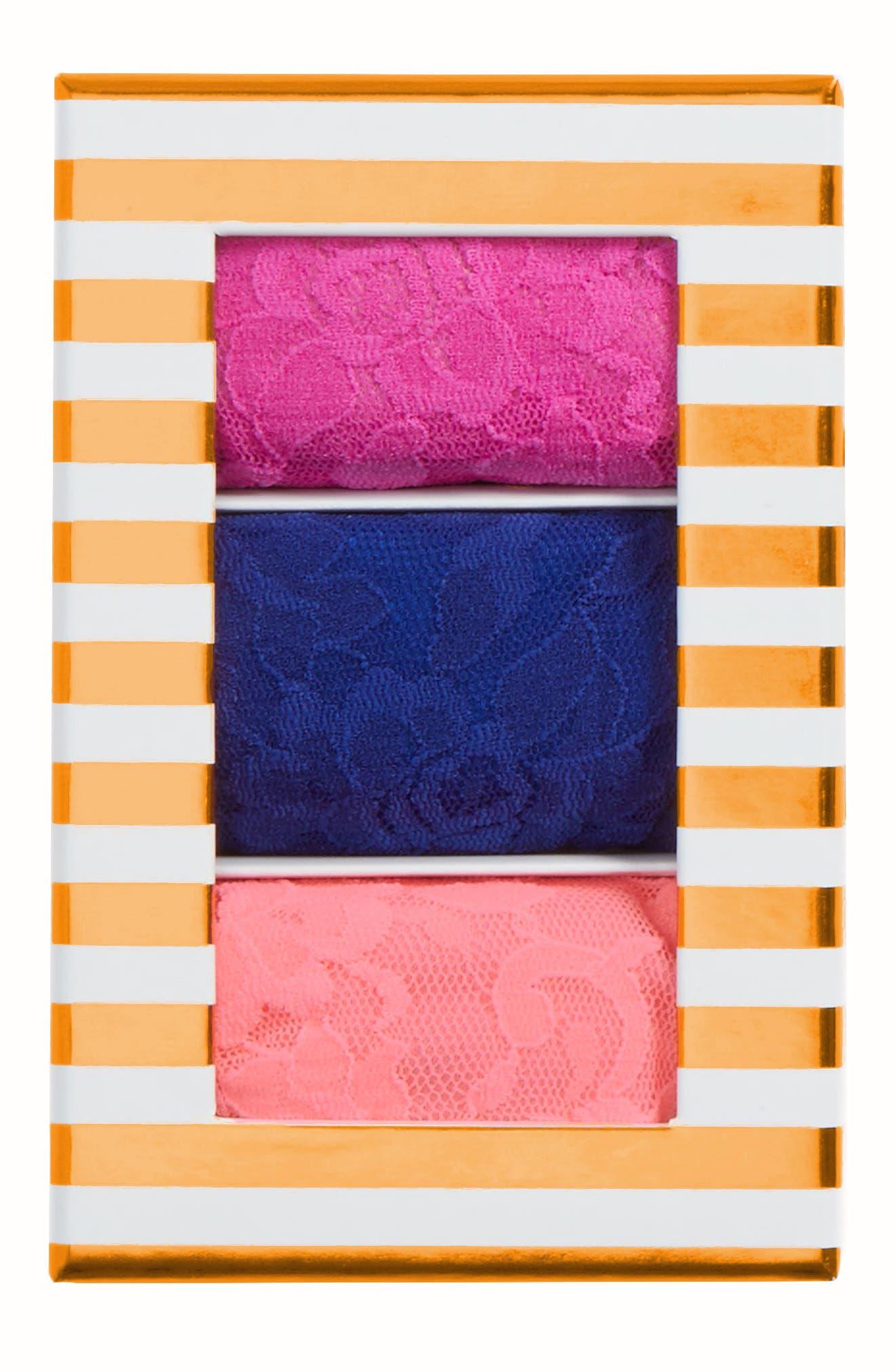 Stripe 3-Pack Original Rise Thongs,                             Alternate thumbnail 3, color,