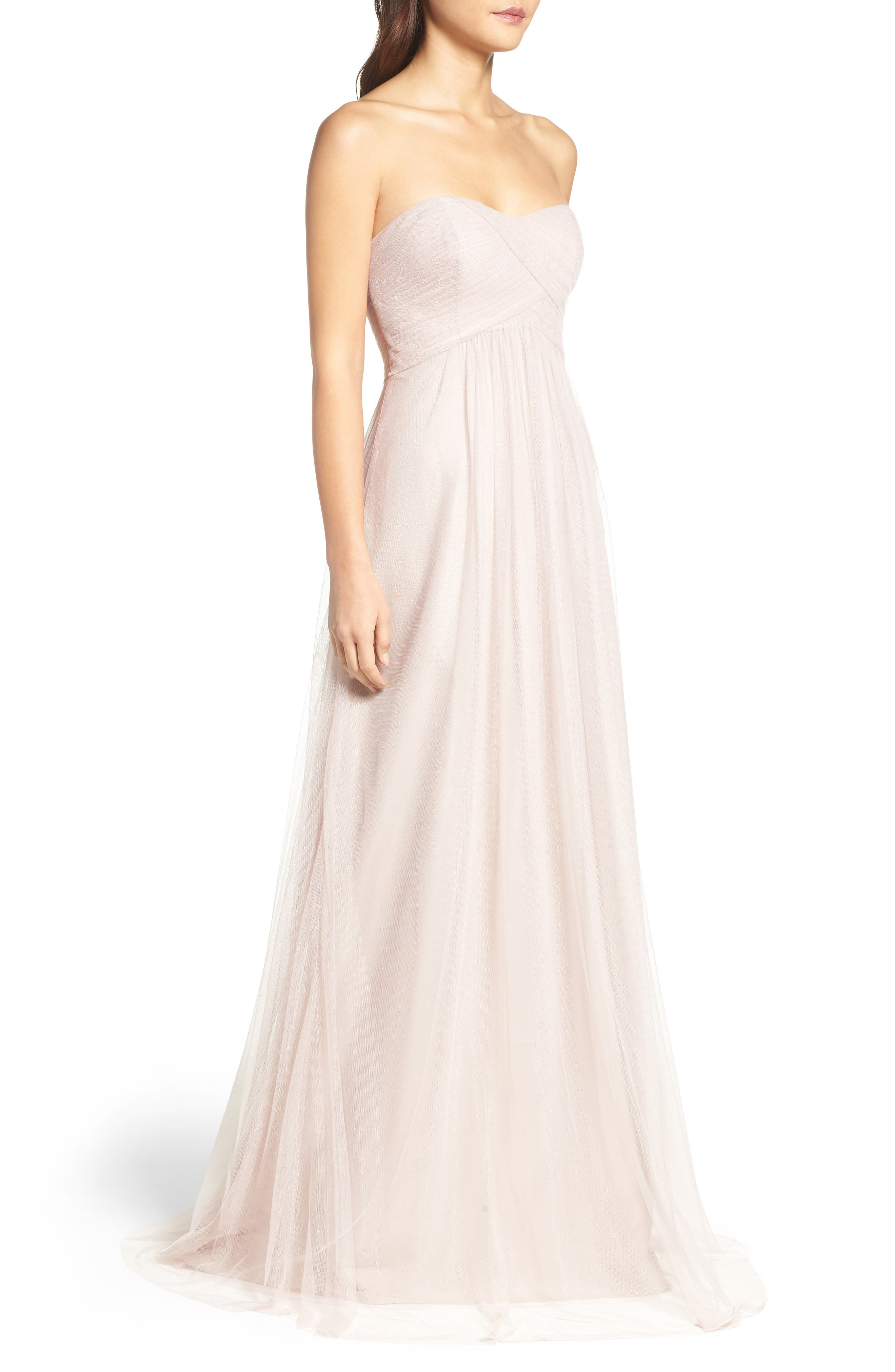 Strapless Tulle Gown,                             Alternate thumbnail 7, color,