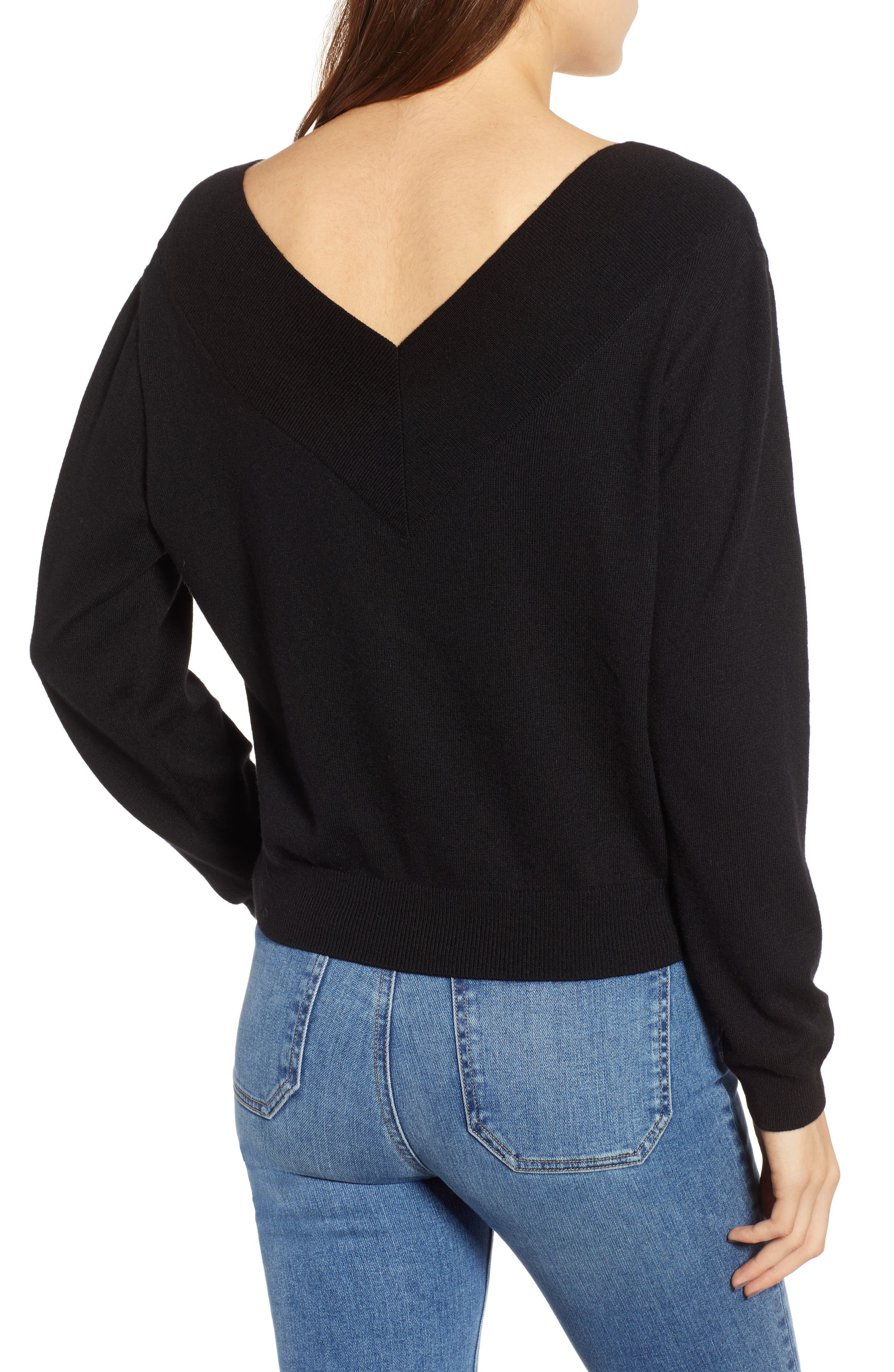Double-V Pullover,                             Alternate thumbnail 2, color,                             001