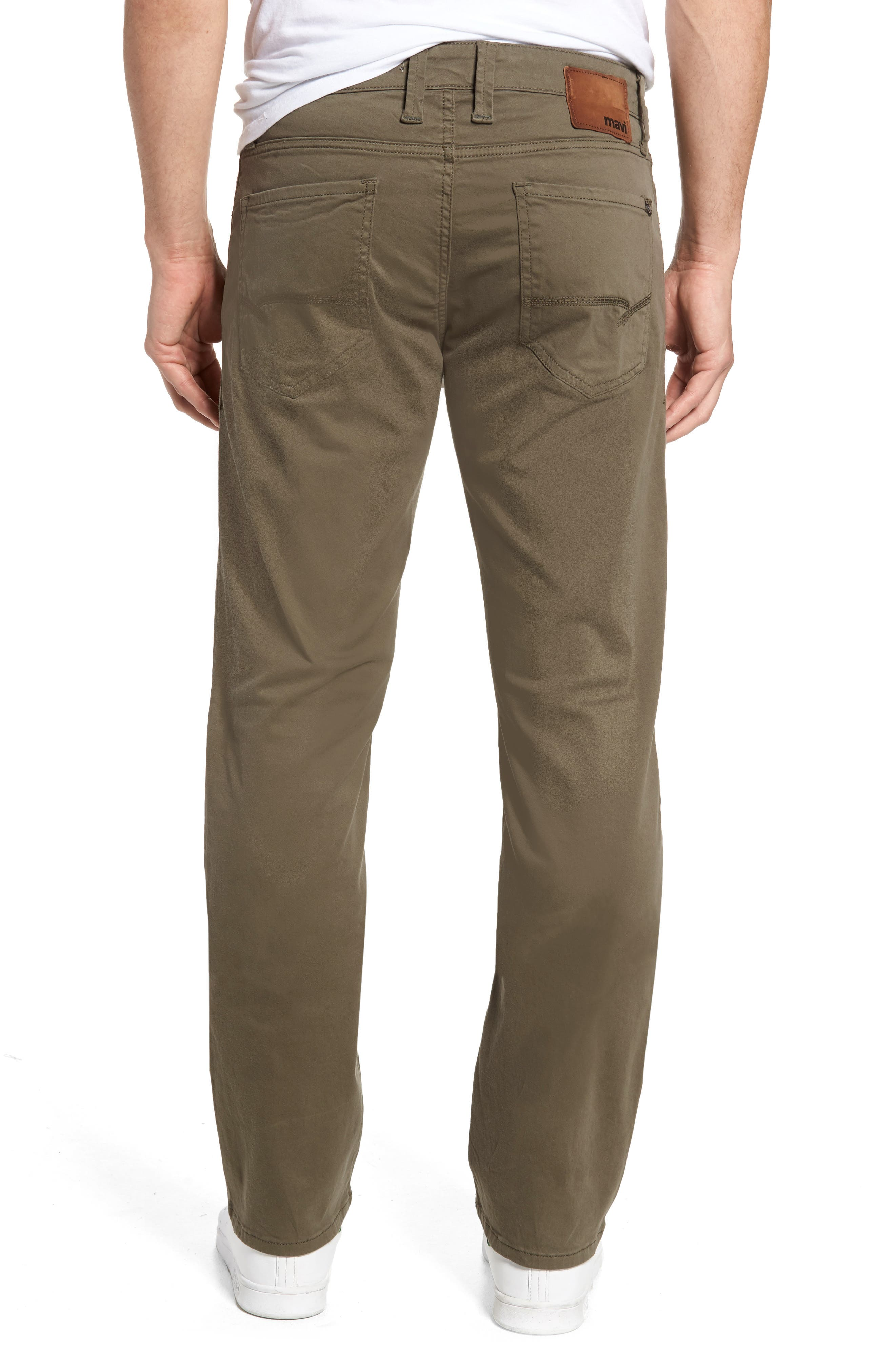 Zach Straight Fit Twill Pants,                             Alternate thumbnail 2, color,                             DUSTY OLIVE TWILL
