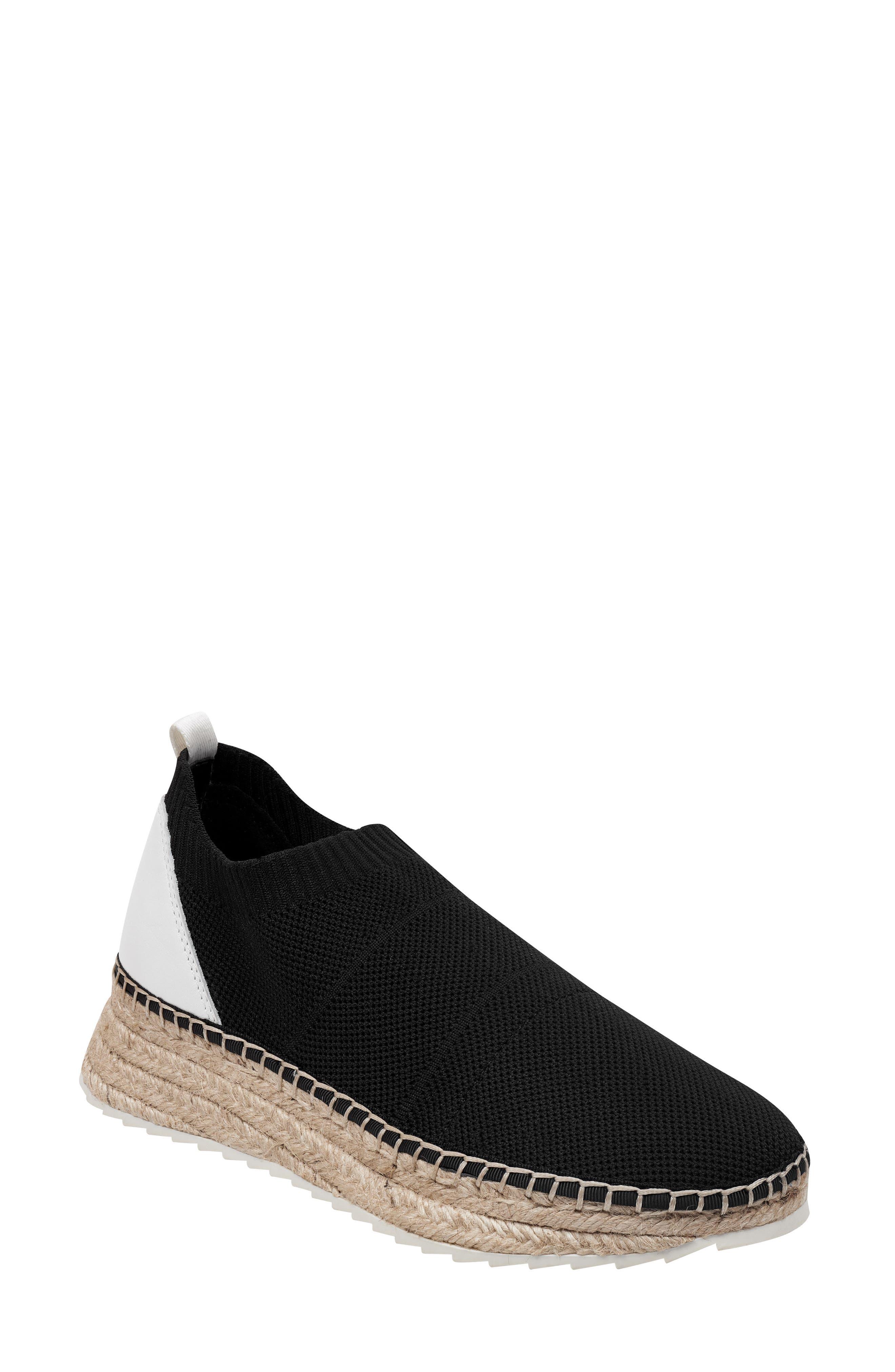 MARC FISHER LTD,                             Jilly Espadrille Sneaker,                             Main thumbnail 1, color,                             BLACK FABRIC